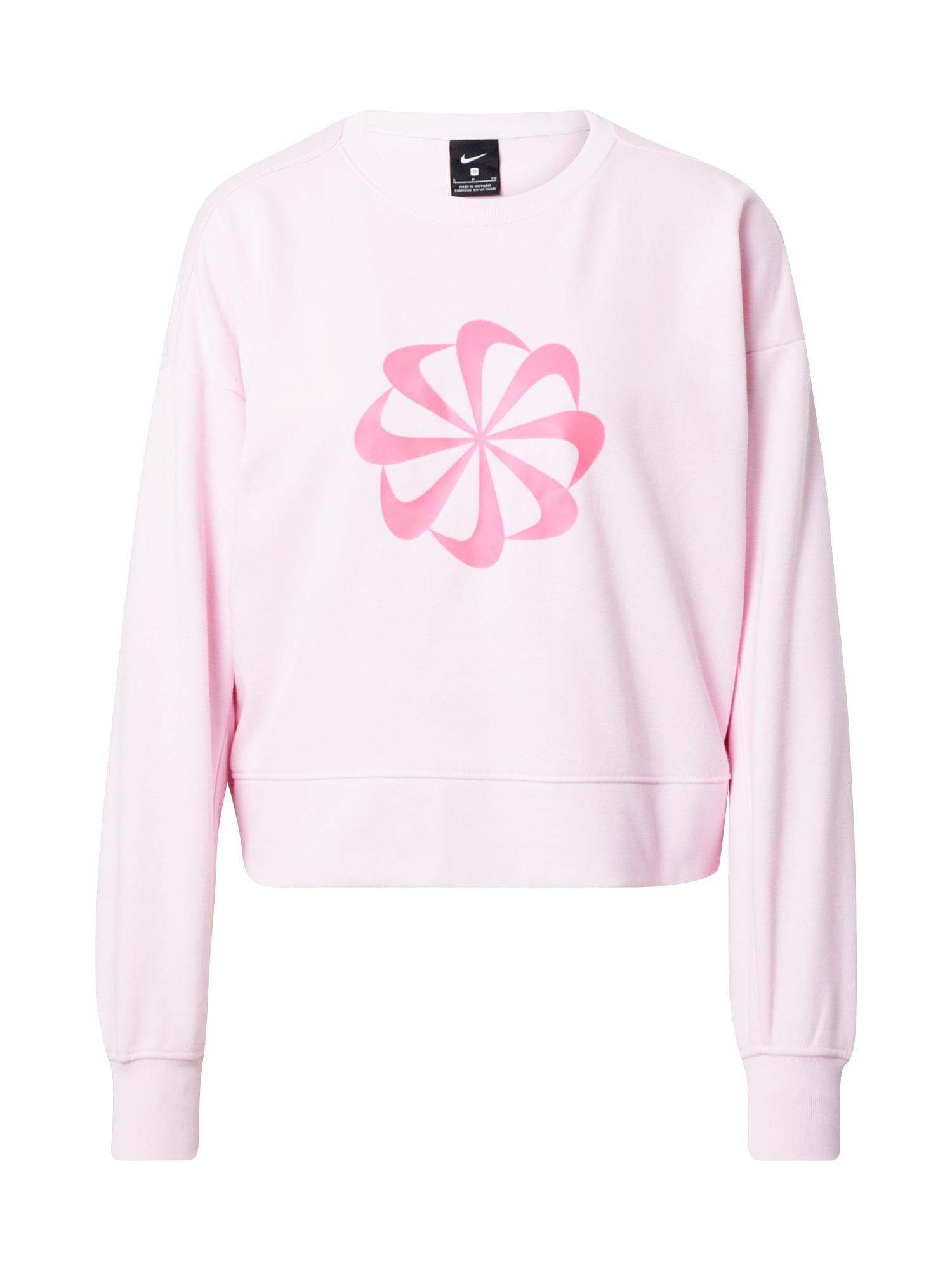 NIKE Sportinio tipo megztinis neoninė rožinė / šviesiai rožinė