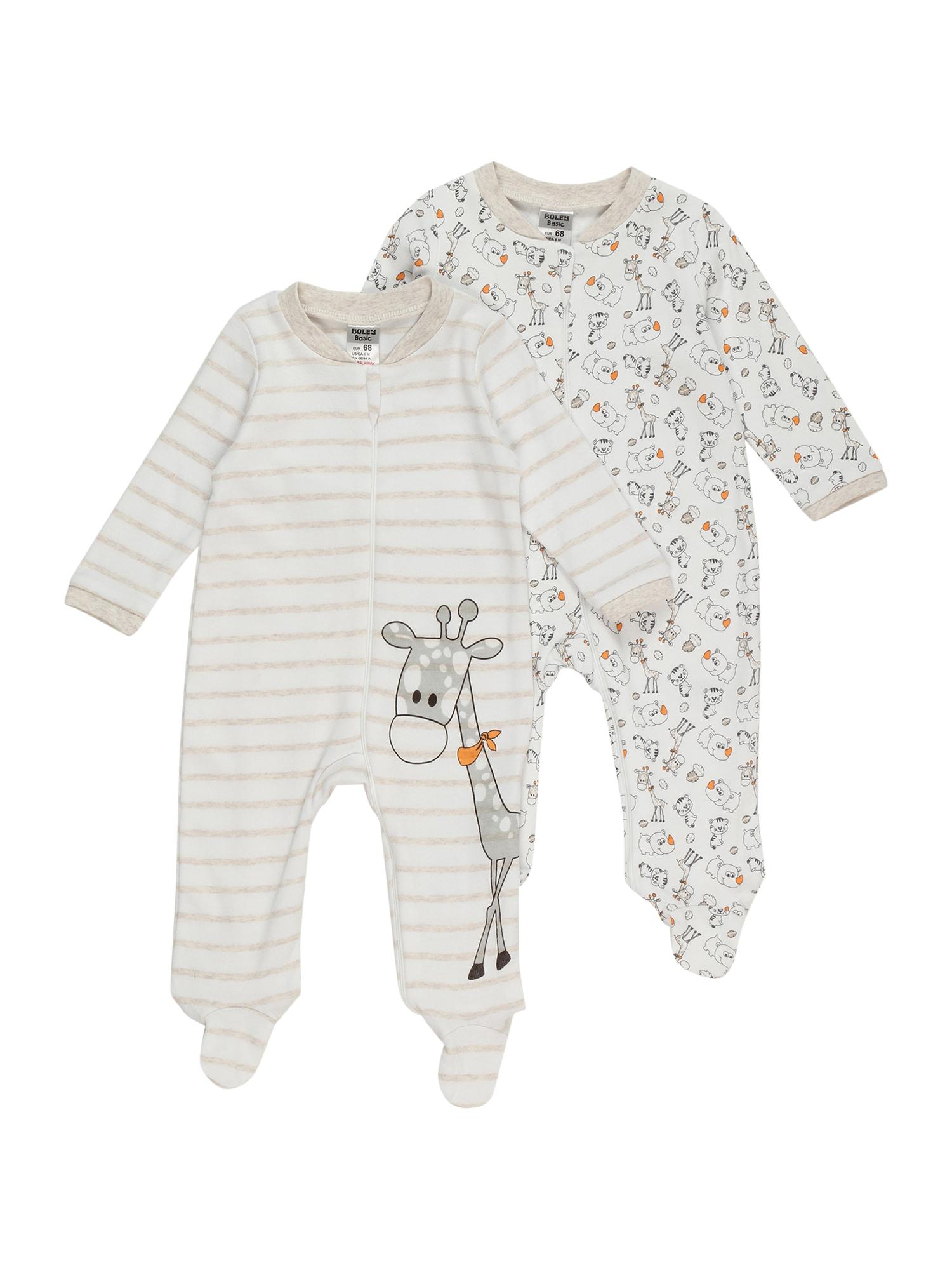 Boley Miego kostiumas smėlio spalva / balta / pilka
