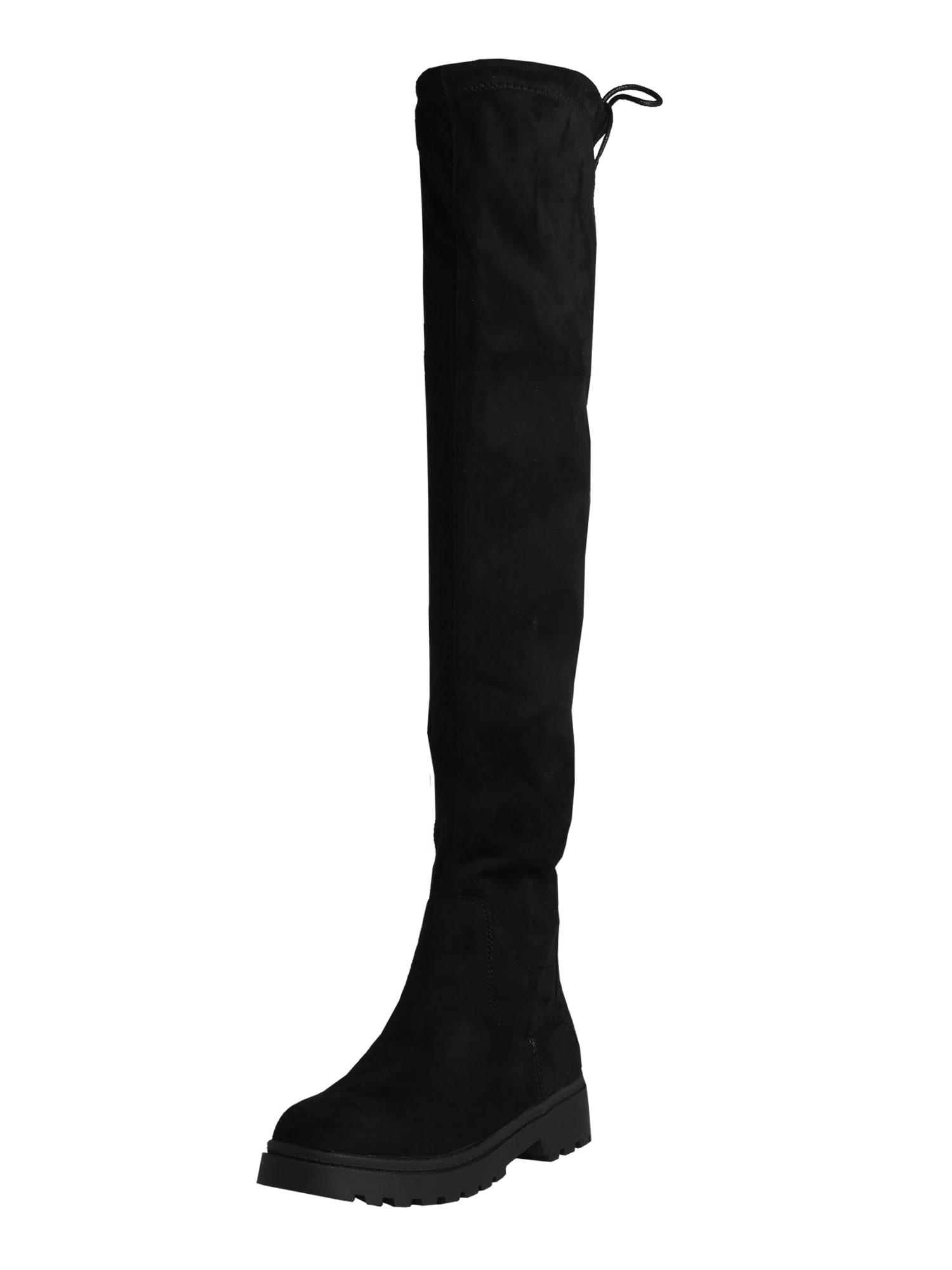 NEW LOOK Ilgaauliai batai virš kelių juoda