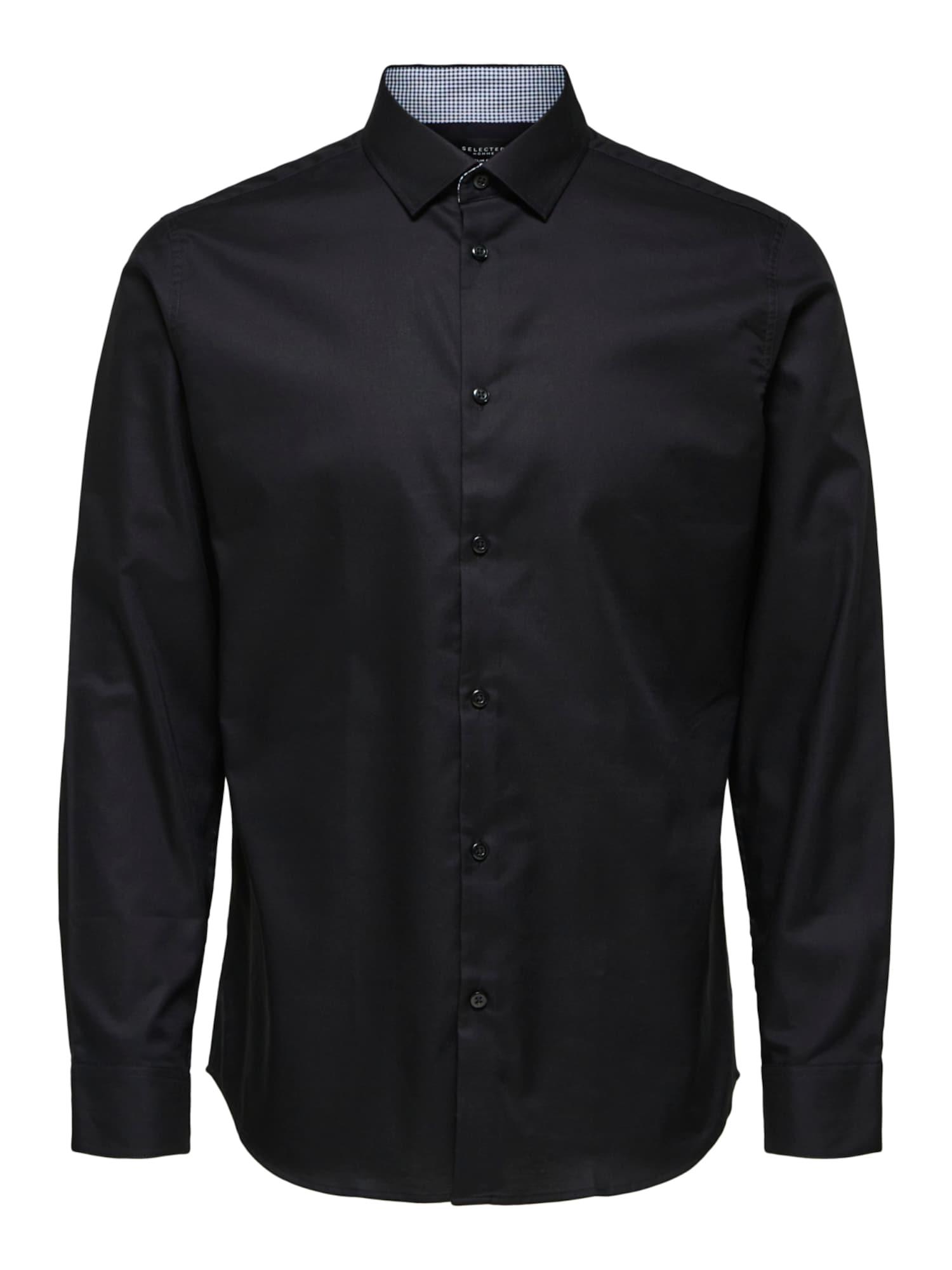 SELECTED HOMME Dalykinio stiliaus marškiniai juoda
