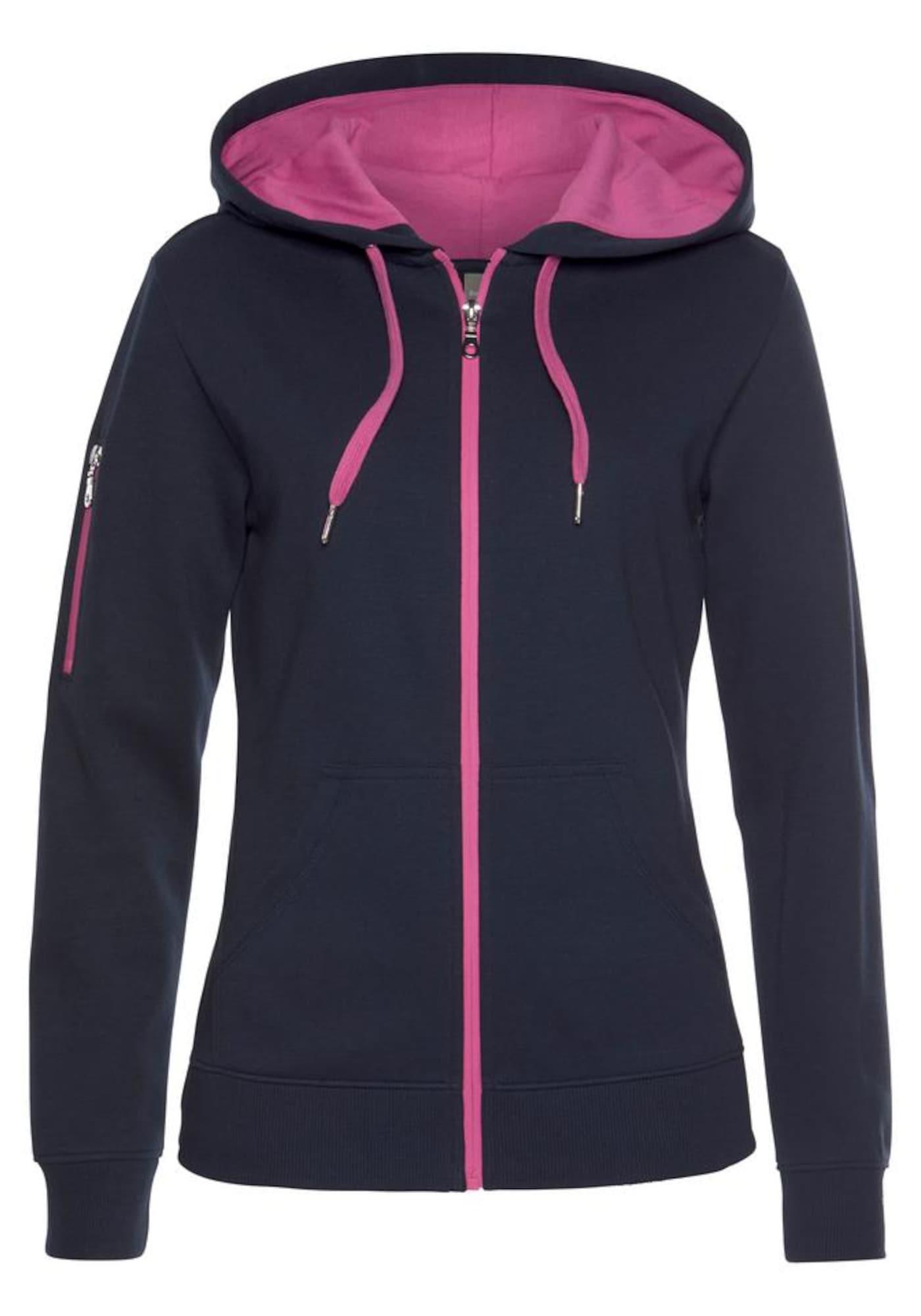 BENCH Džemperis rožinė / tamsiai mėlyna