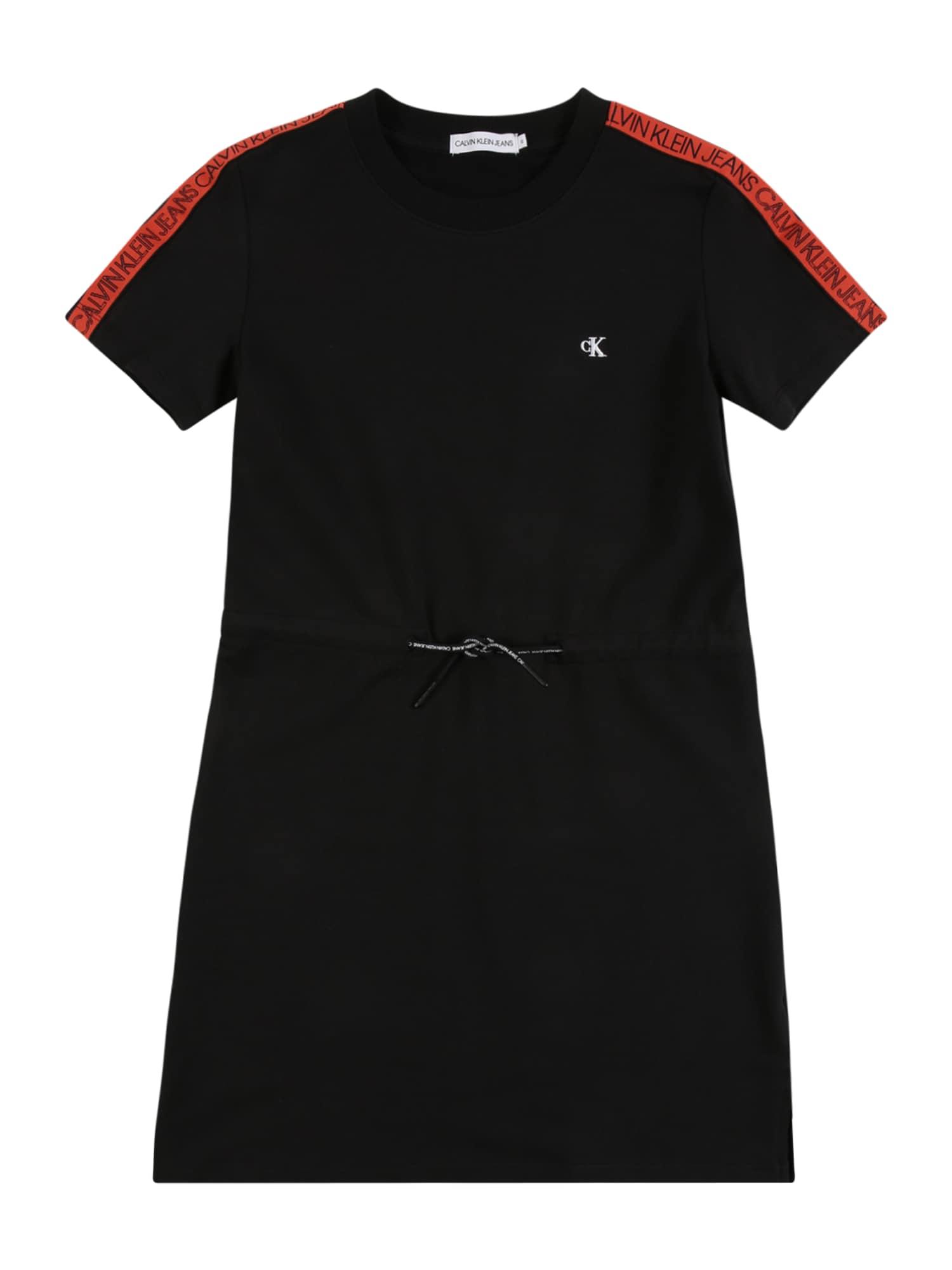 Calvin Klein Jeans Suknelė juoda / raudona