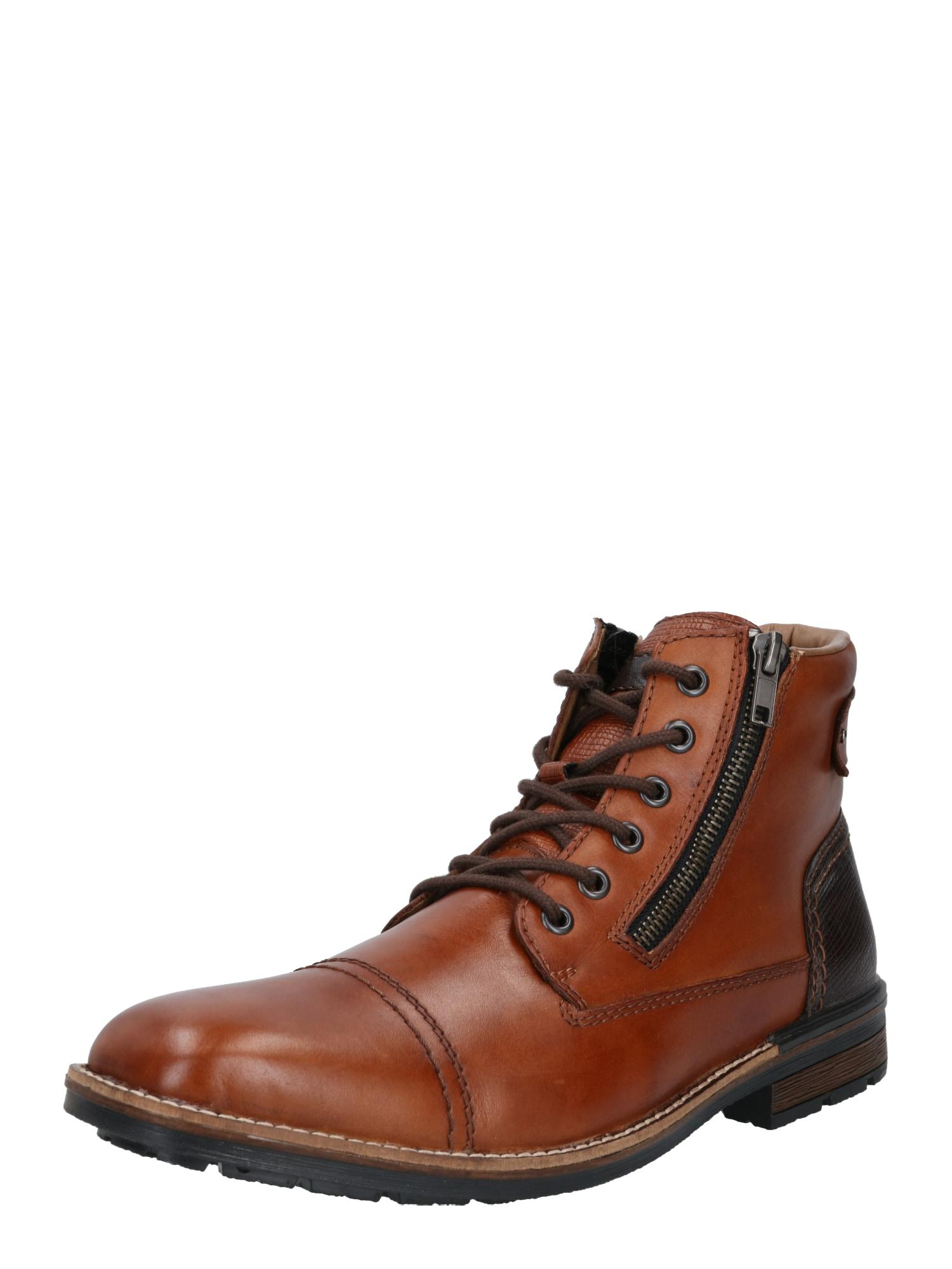 RIEKER Auliniai batai su raišteliais karamelės