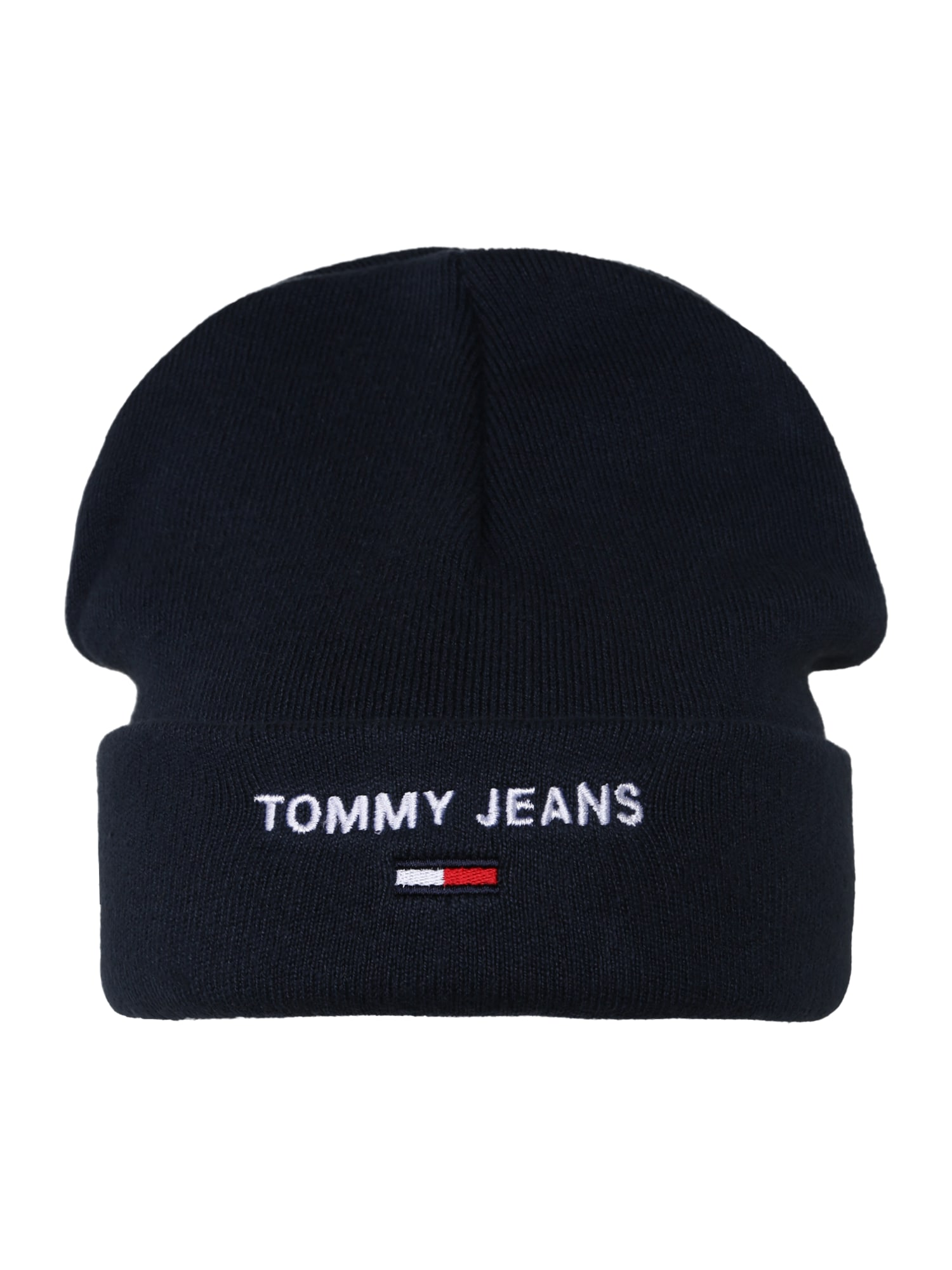Tommy Jeans Megzta kepurė tamsiai mėlyna / balta / raudona