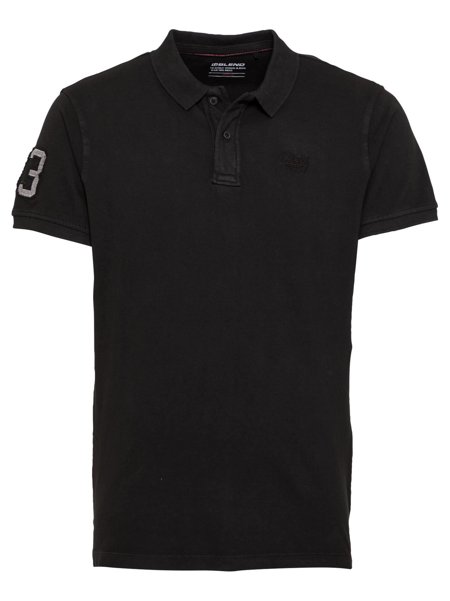 BLEND Marškinėliai juoda / pilka