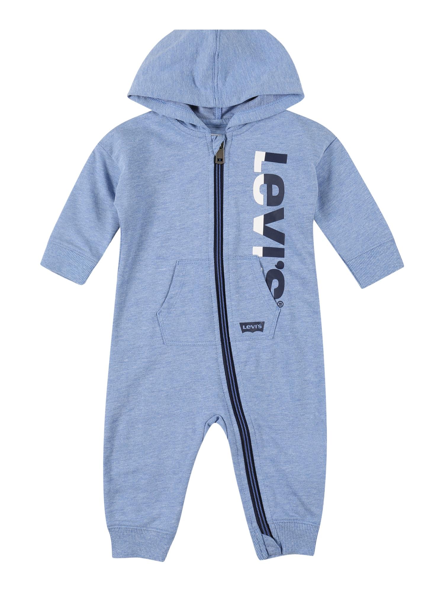 LEVI'S Overal  modrý melír / bílá / námořnická modř