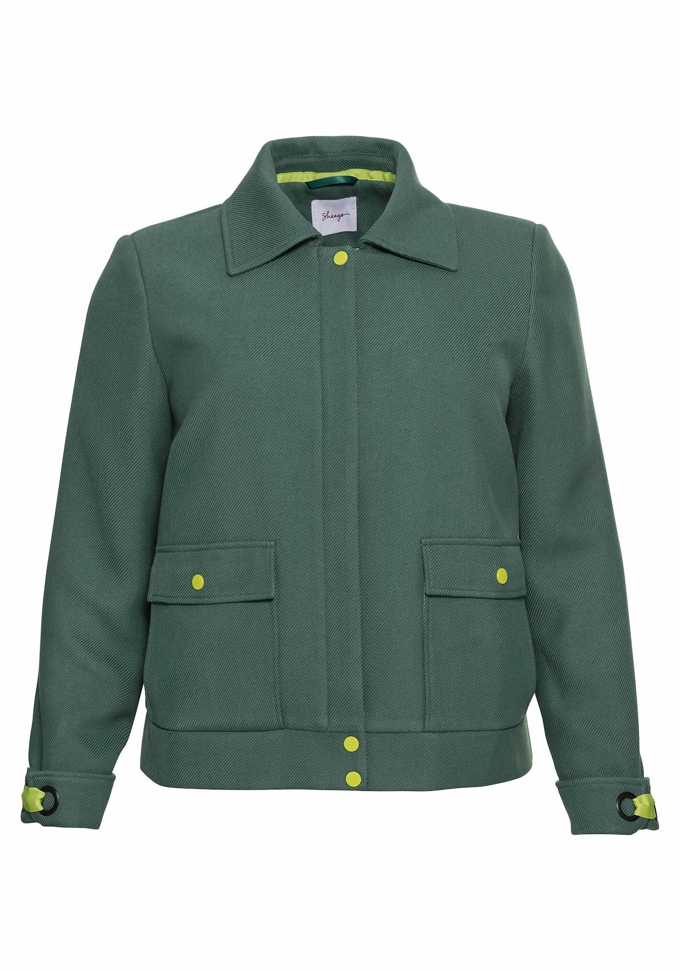 SHEEGO Demisezoninė striukė žalia / žaliosios citrinos spalva