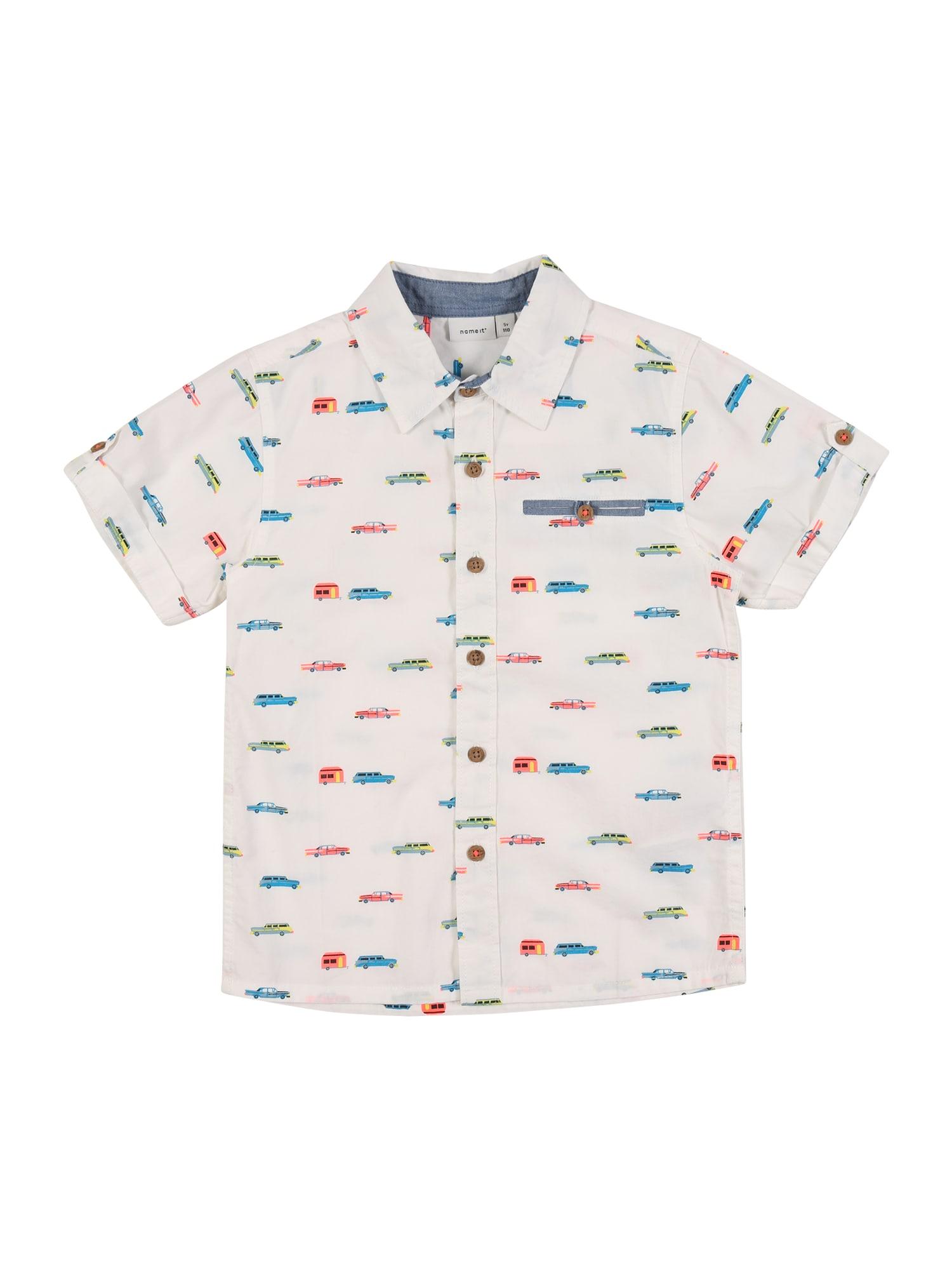 NAME IT Marškiniai 'NMMFRITTE' balta / mišrios spalvos