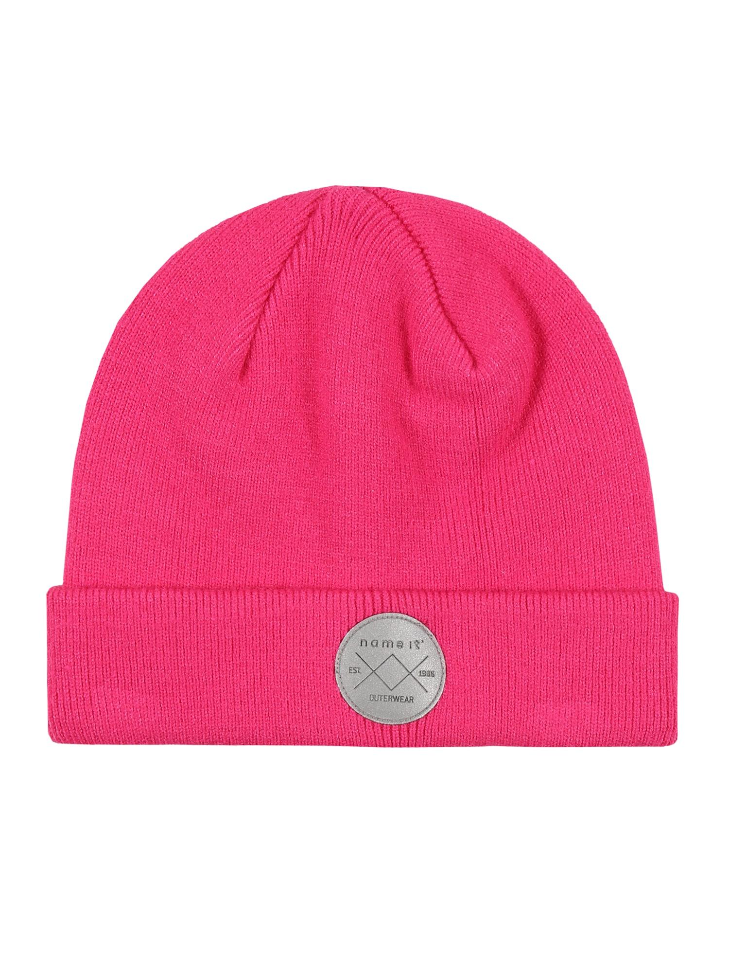 NAME IT Megzta kepurė neoninė rožinė