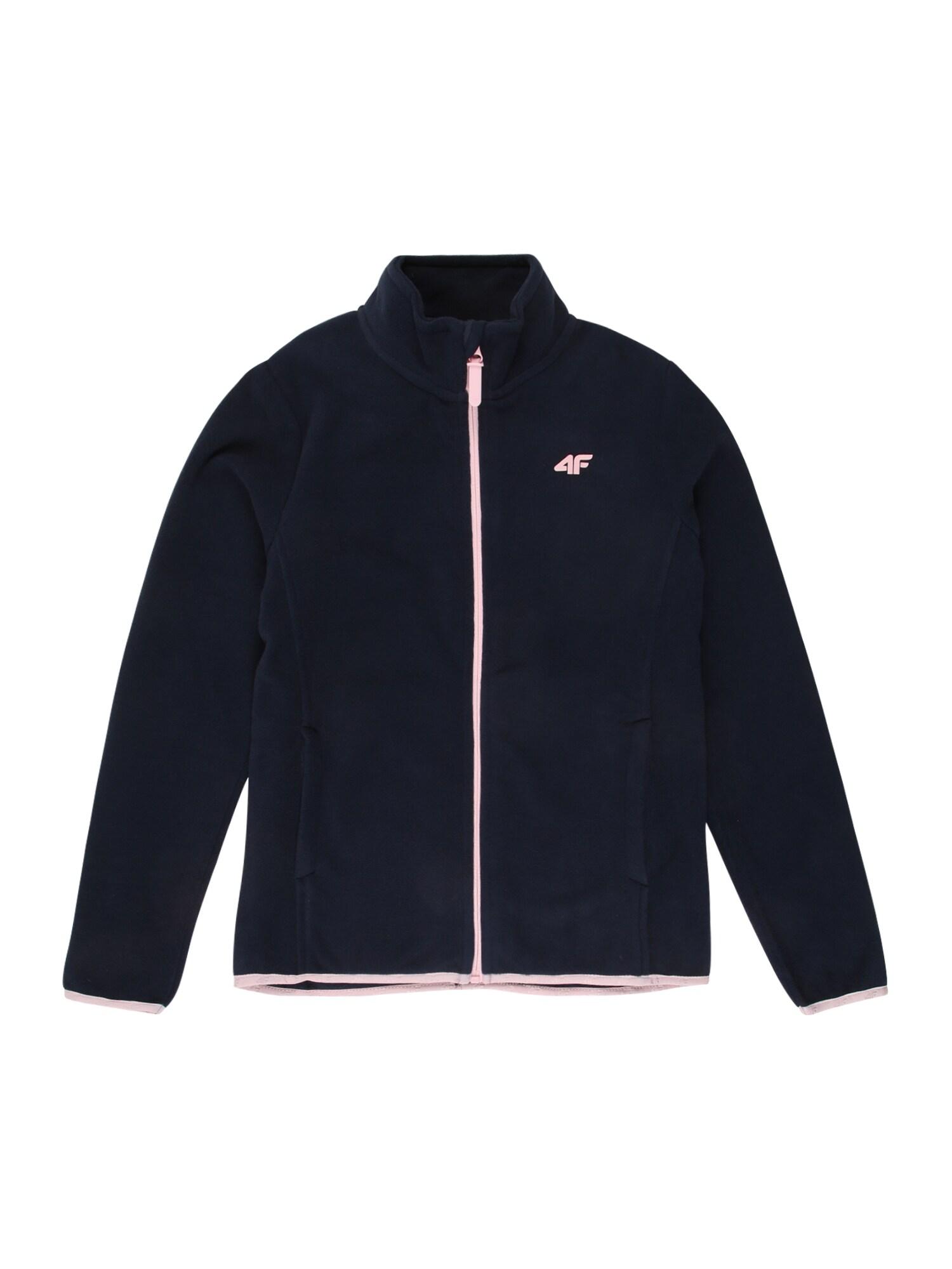 4F Funkční flísová bunda  námořnická modř / světle růžová