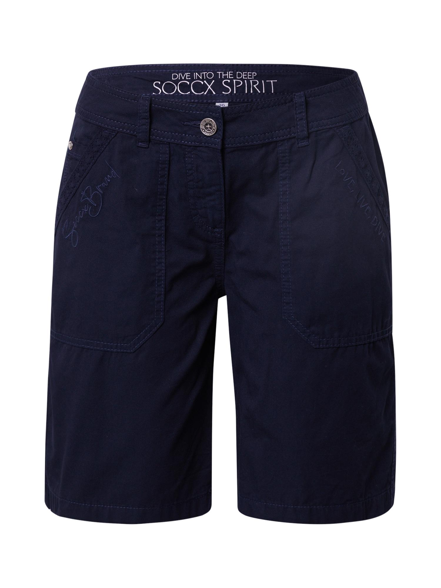 Soccx Kelnės tamsiai mėlyna