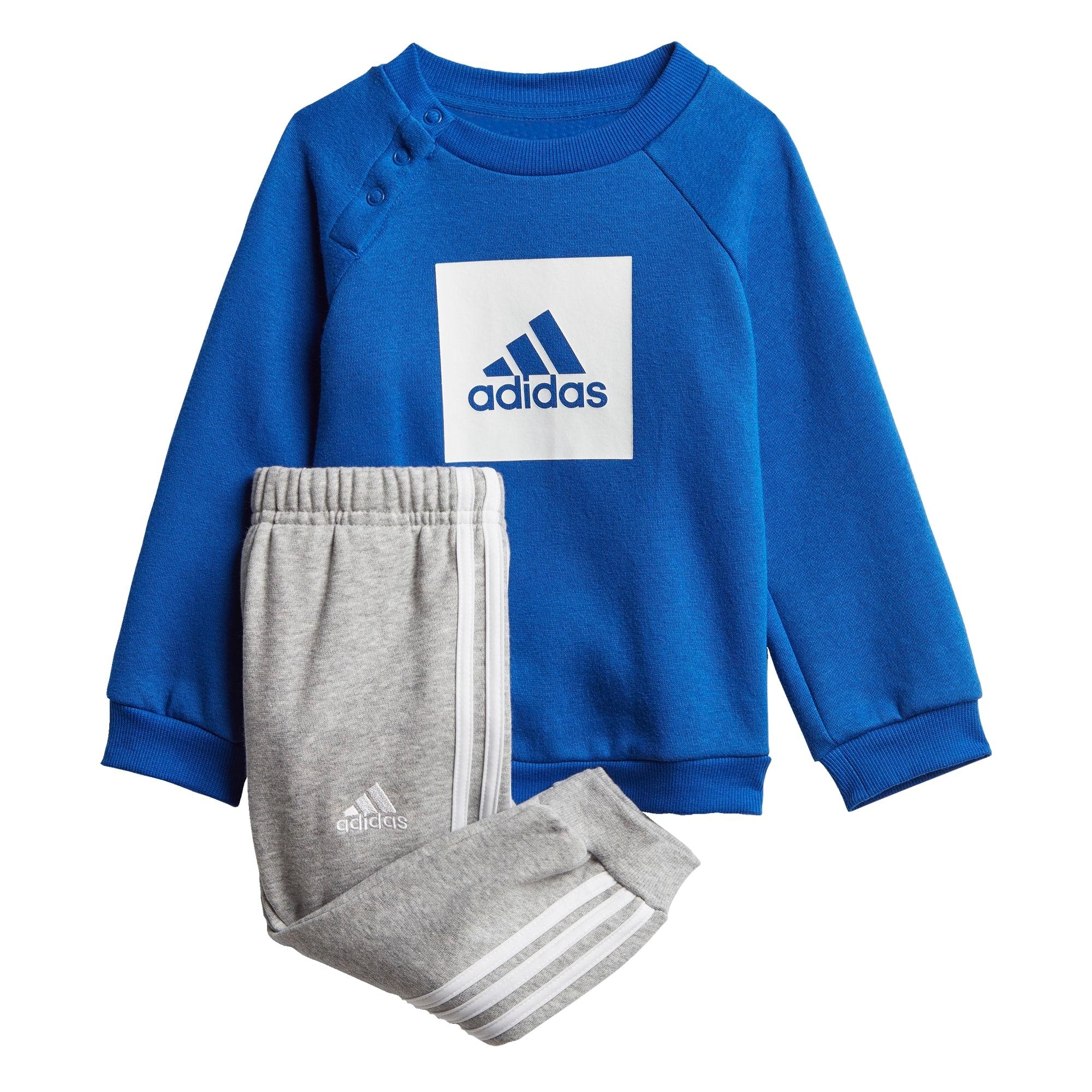 ADIDAS PERFORMANCE Treniruočių kostiumas balta / mėlyna / margai pilka