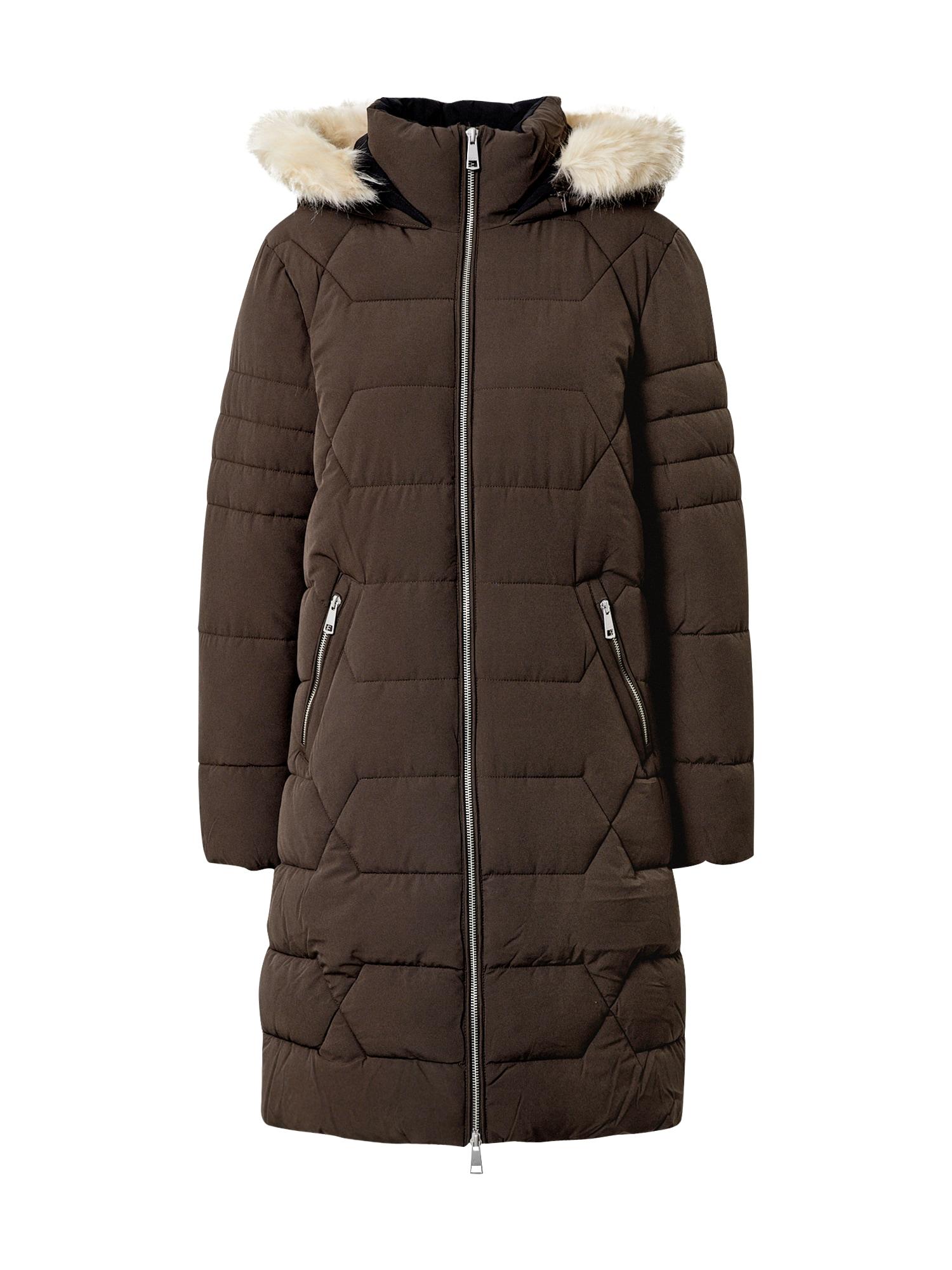 ESPRIT Žieminis paltas tamsiai ruda