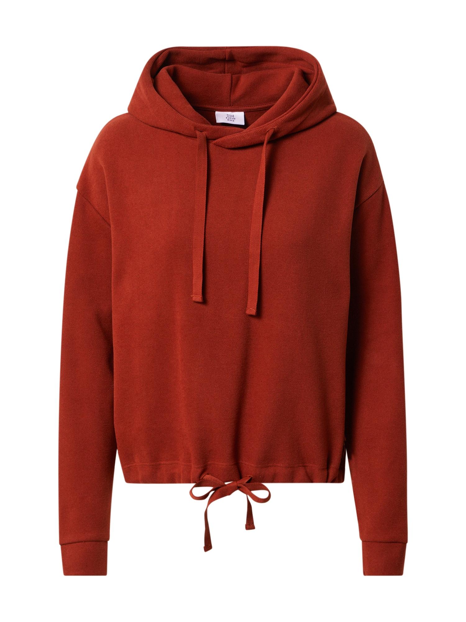 Kauf Dich Glücklich Megztinis be užsegimo rūdžių raudona