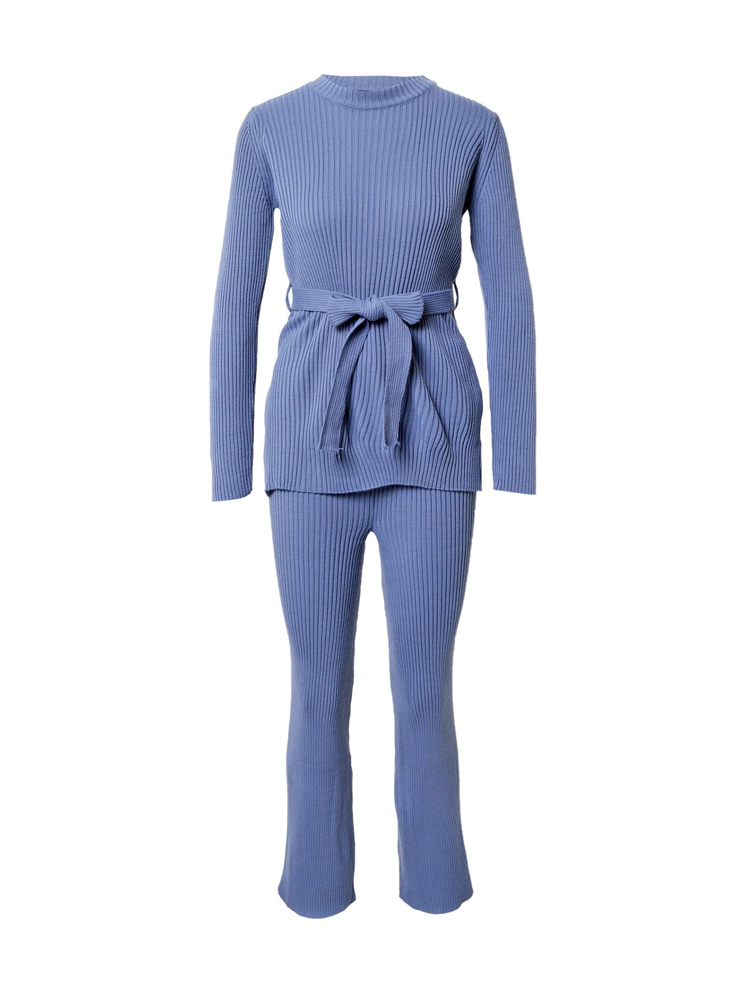 Trendyol Moteriškas kostiumėlis su kelnėmis mėlyna dūmų spalva