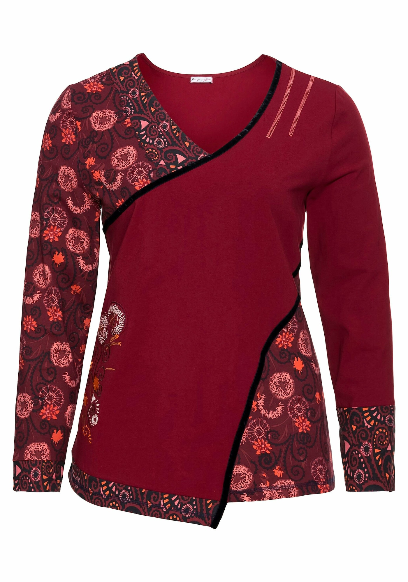 sheego by Joe Browns Marškinėliai rubinų raudona