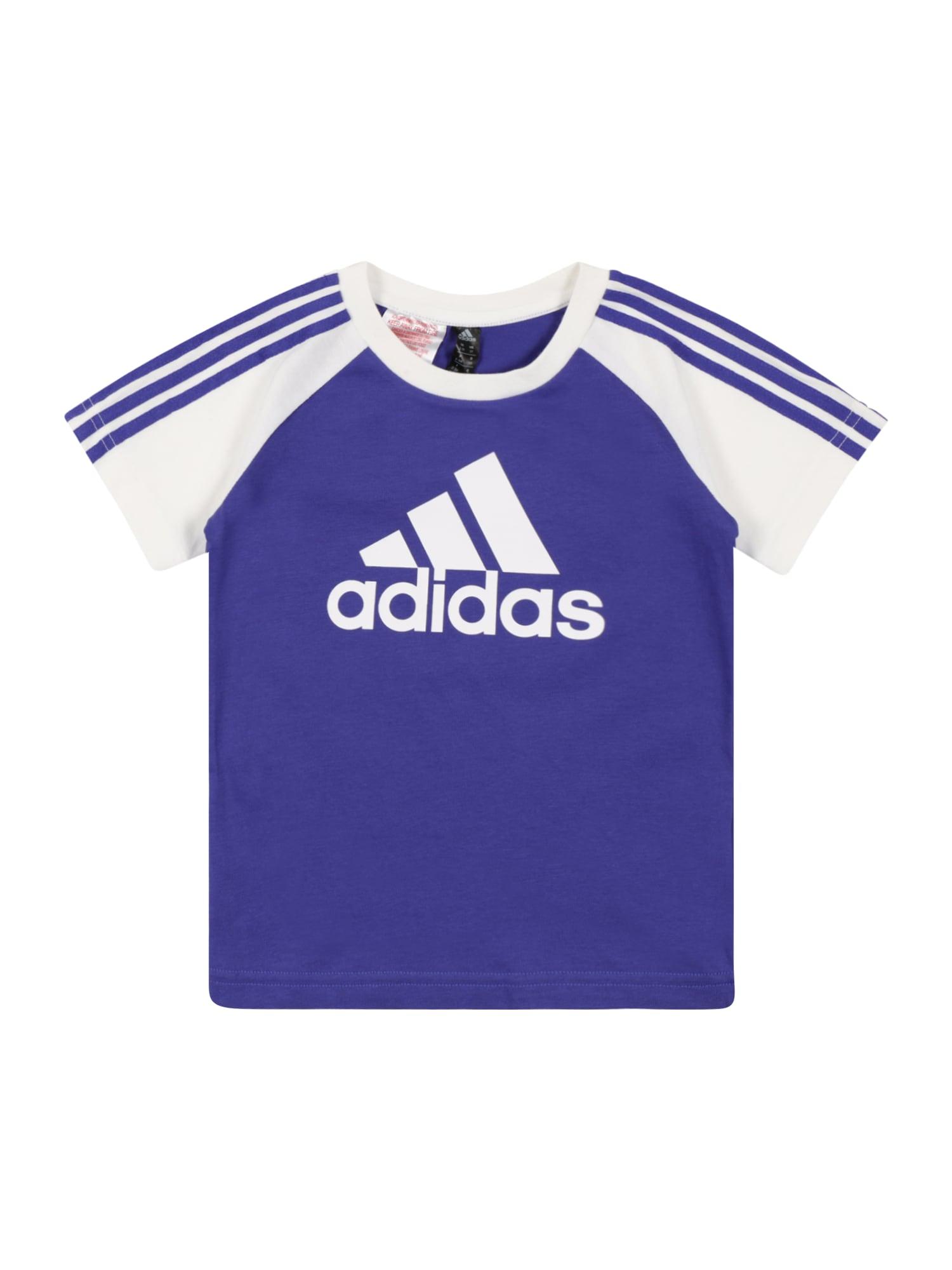 ADIDAS PERFORMANCE Sportiniai marškinėliai balta / tamsiai violetinė