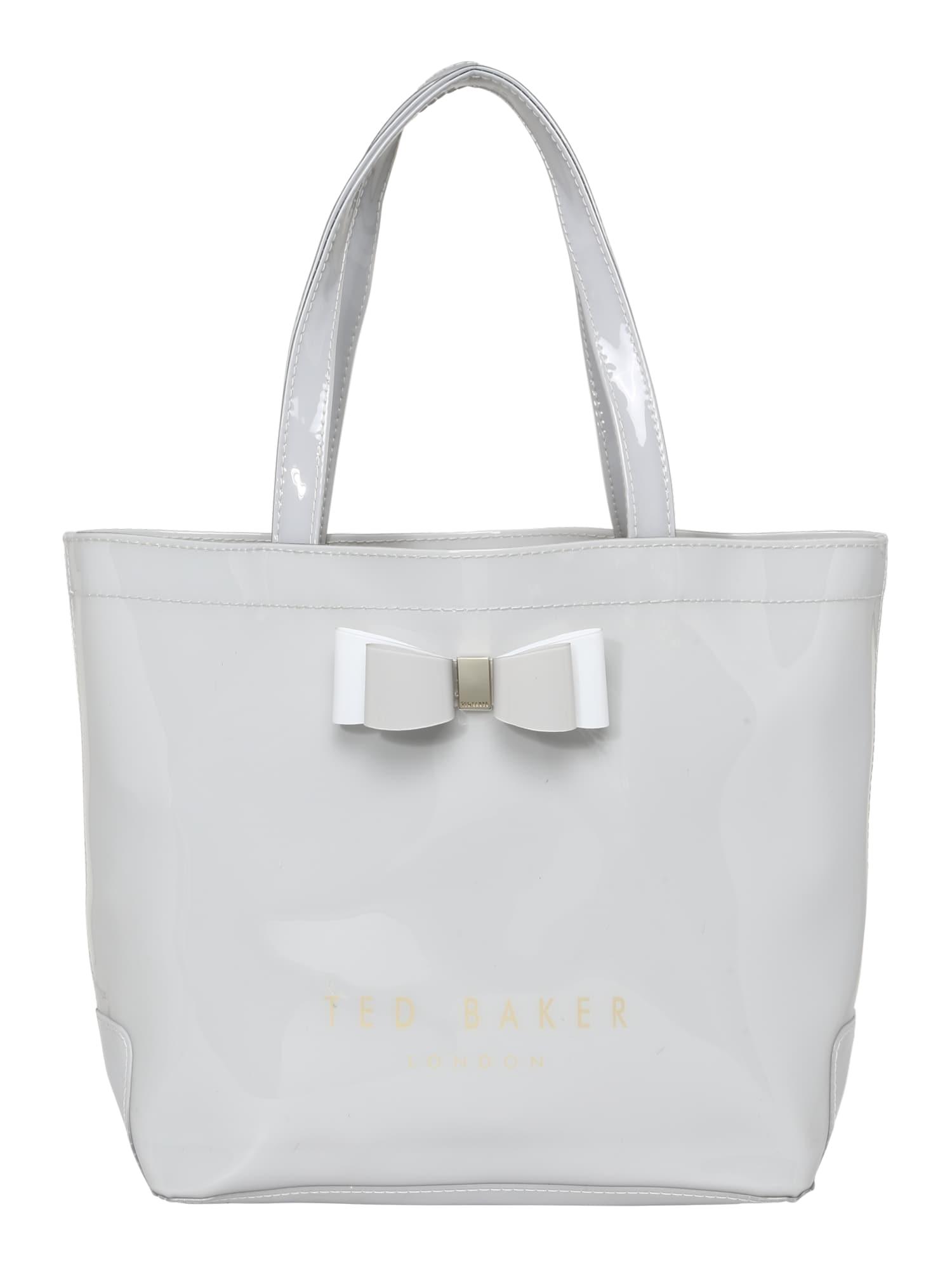 Ted Baker Pirkinių krepšys pilka / balta