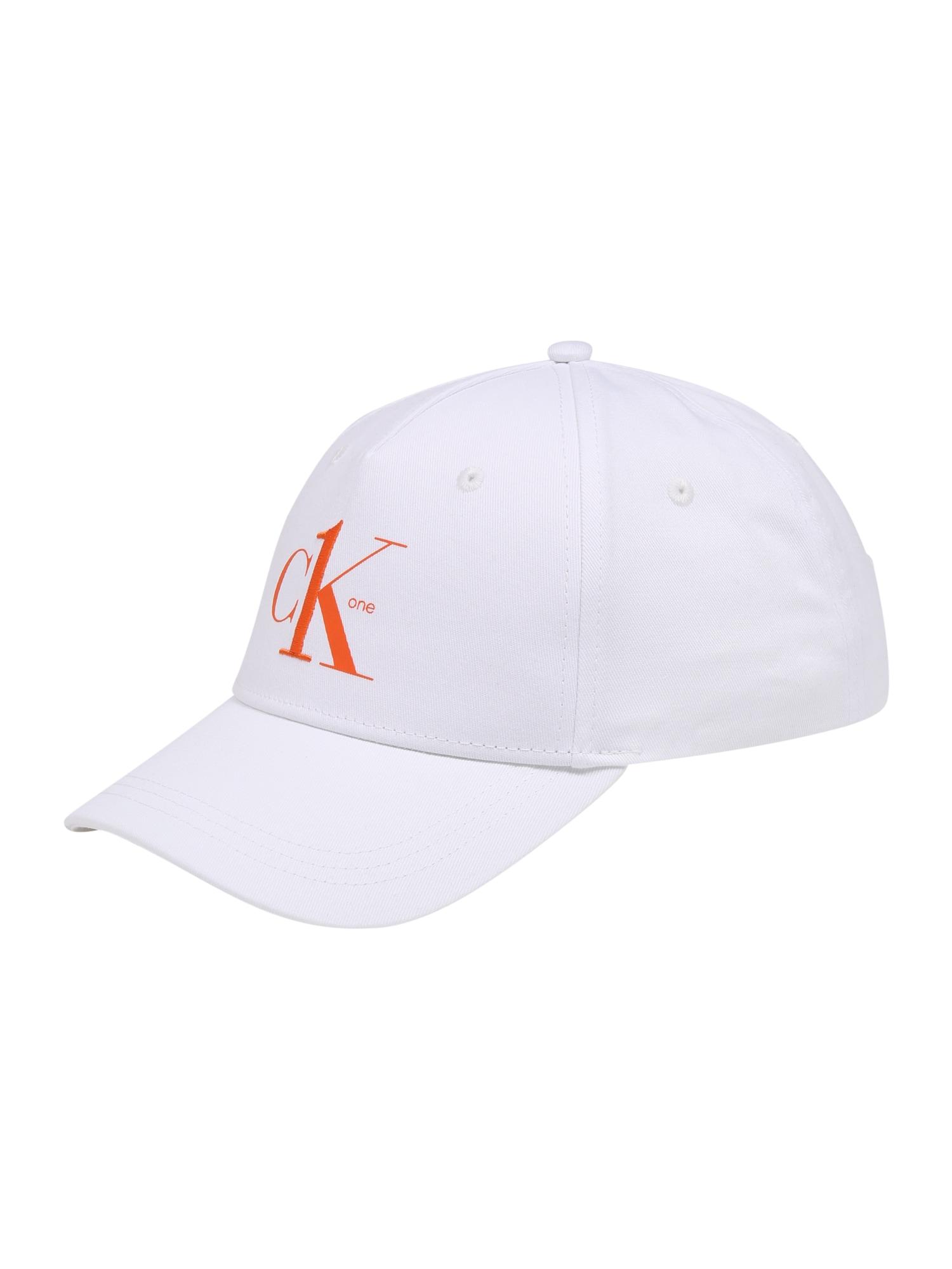 Calvin Klein Kepurė balta / oranžinė