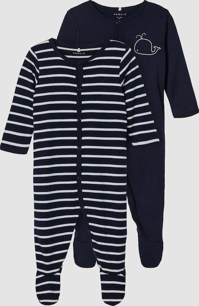 Name It Baby Langarm-Schlafanzug in dunklem Sapphirblau 2er-Pack
