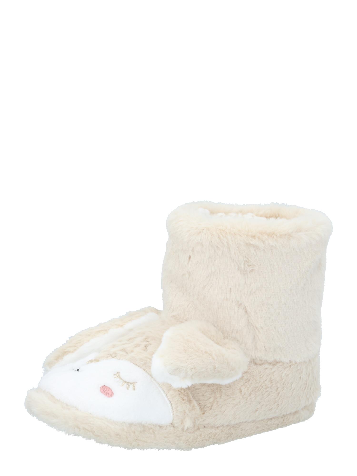 Hunkemöller Naminės šlepetės 'Bunny' smėlio / balta / rožinė