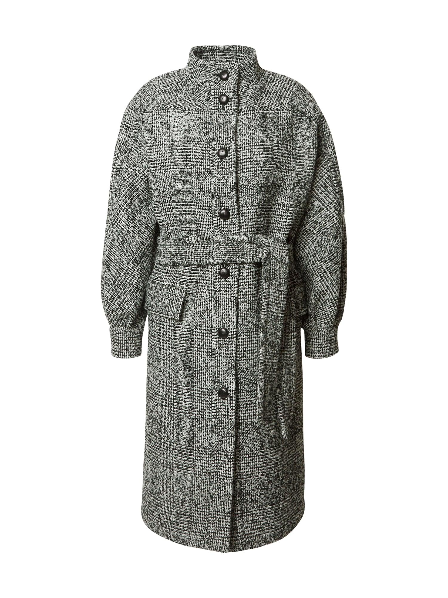 The Kooples Demisezoninis paltas pilka / juoda