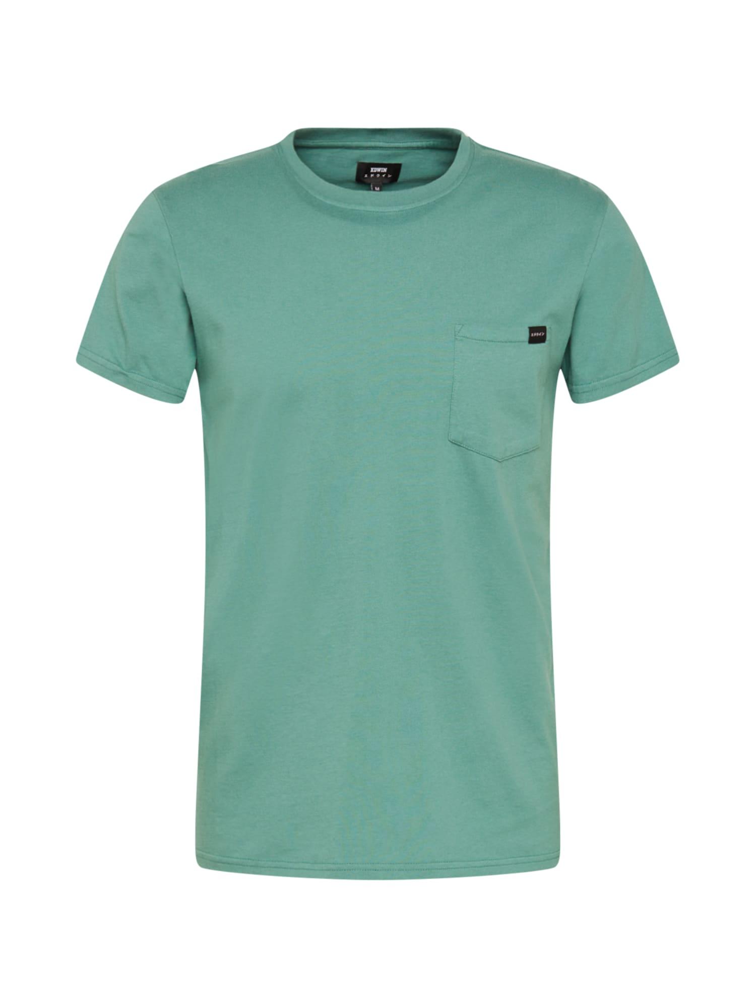 EDWIN Marškinėliai pastelinė mėlyna