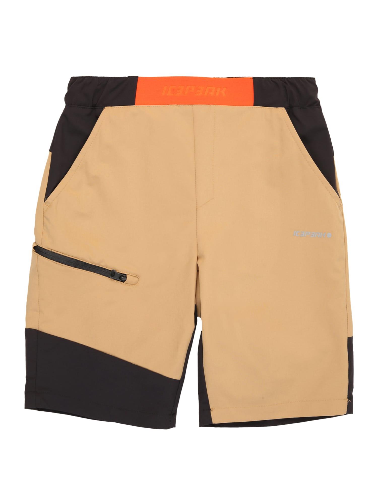 ICEPEAK Sportinės kelnės gelsvai pilka spalva / juoda / oranžinė