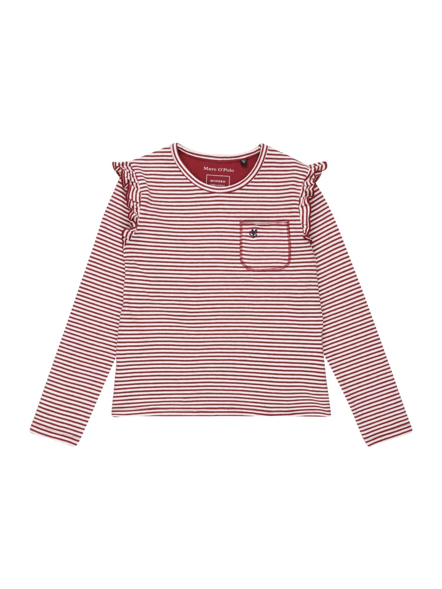 Marc O'Polo Junior Marškinėliai raudona / balta