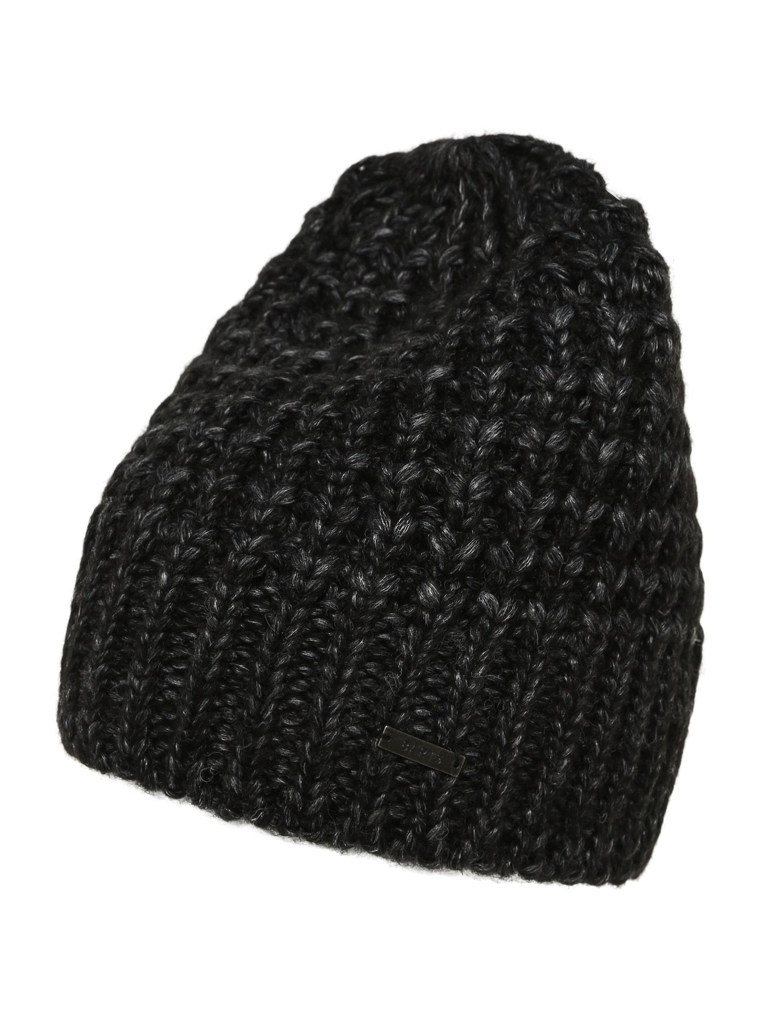 Barts Megzta kepurė juoda