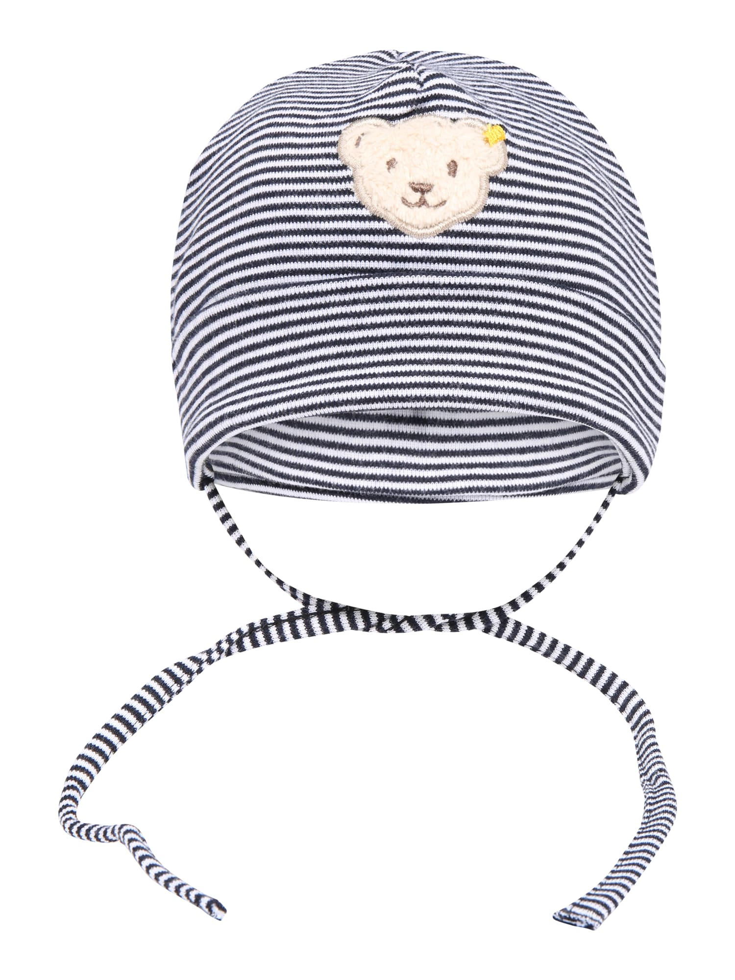 Steiff Collection Megzta kepurė tamsiai mėlyna / balta / smėlio