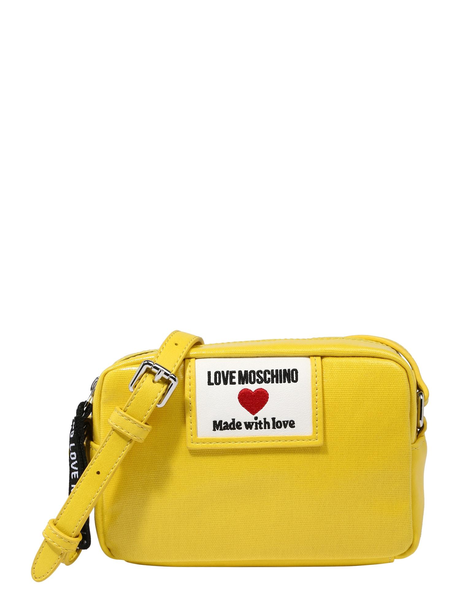 Love Moschino Rankinė su ilgu dirželiu geltona / balta / raudona / juoda