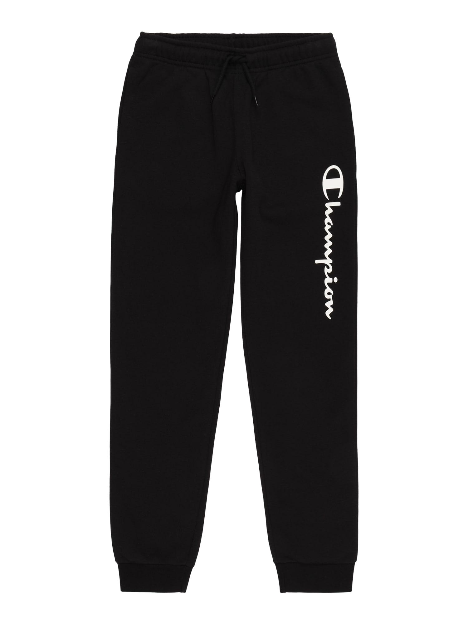 Champion Authentic Athletic Apparel Kelnės juoda / melionų spalva / balta