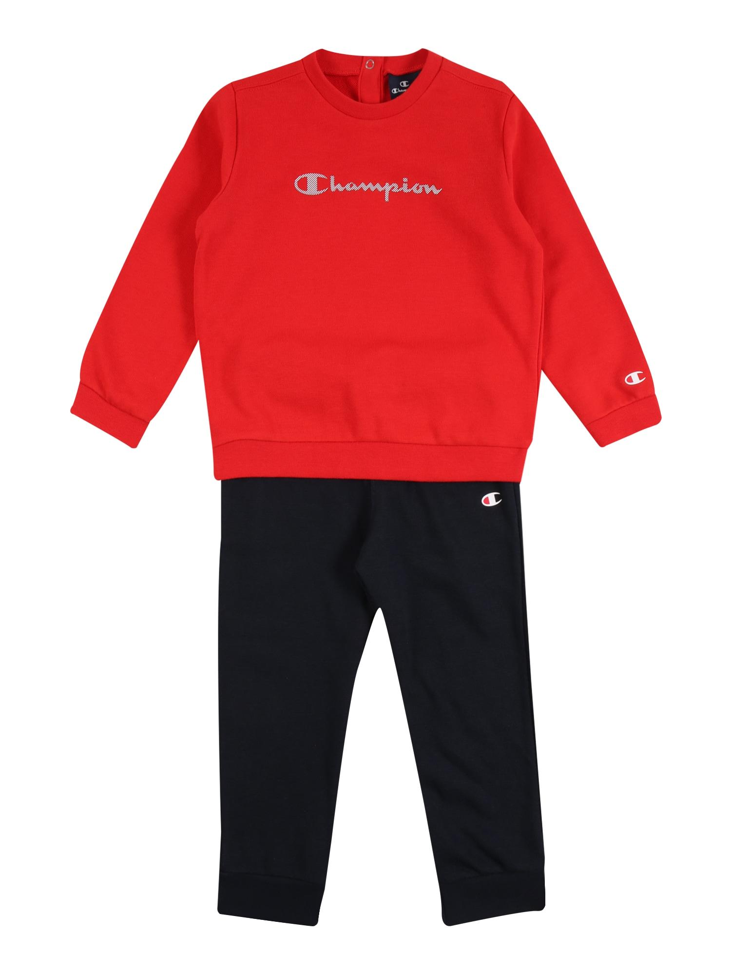 Champion Authentic Athletic Apparel Treningas tamsiai mėlyna / raudona