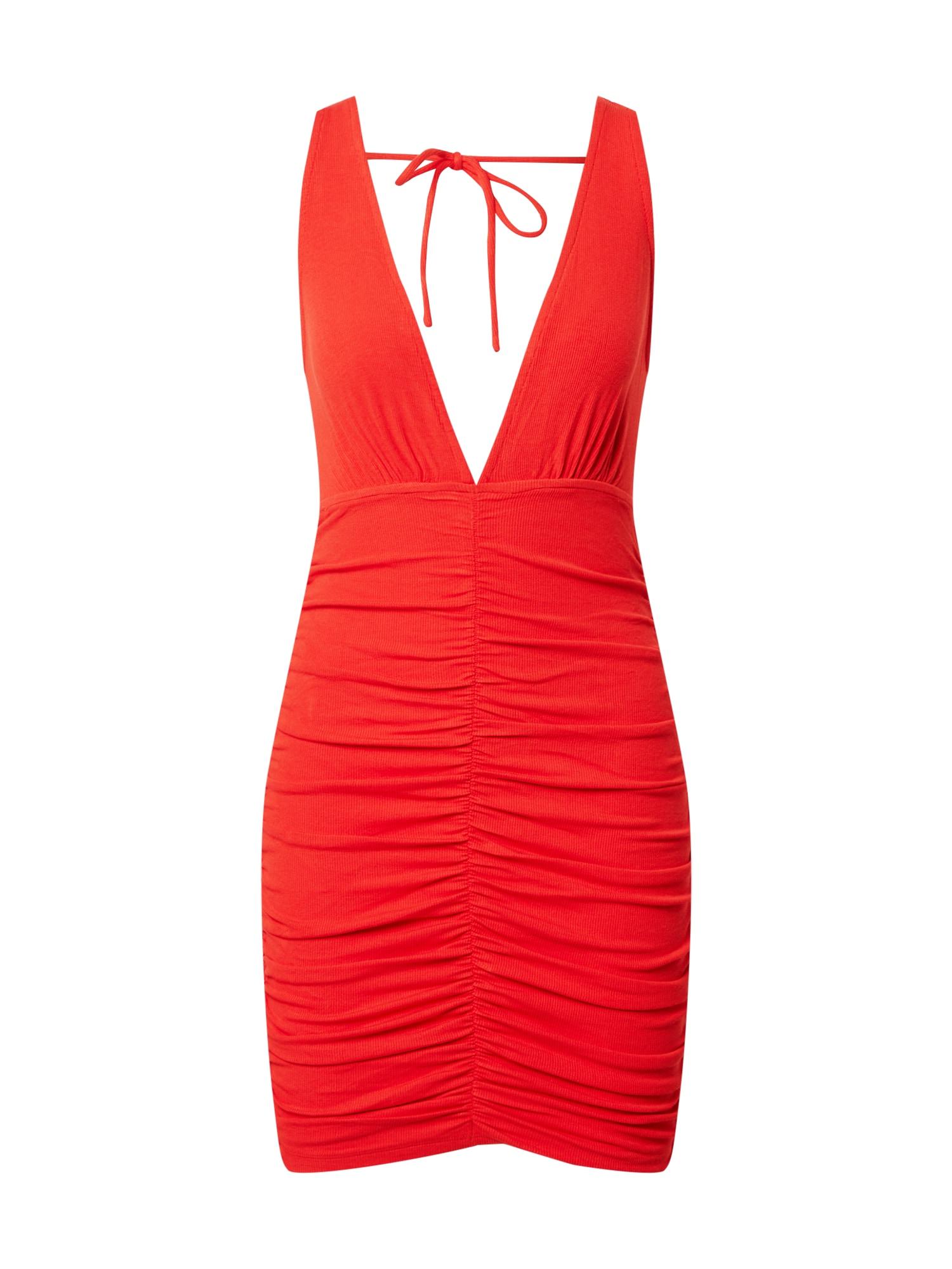 Parallel Lines Suknelė ugnies raudona
