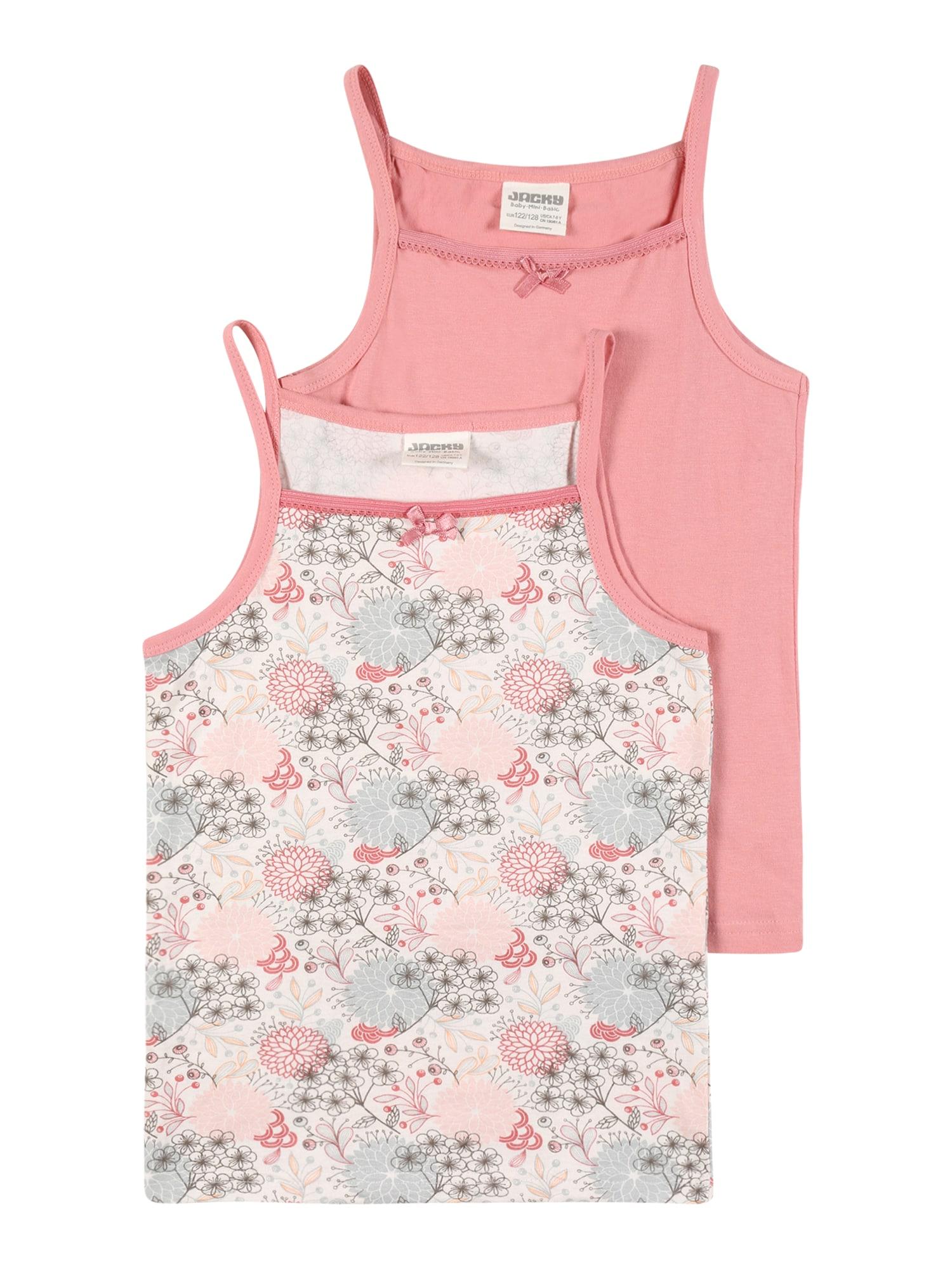 JACKY Apatiniai marškinėliai rožinė / balta / šviesiai mėlyna / tamsiai ruda / rožių spalva
