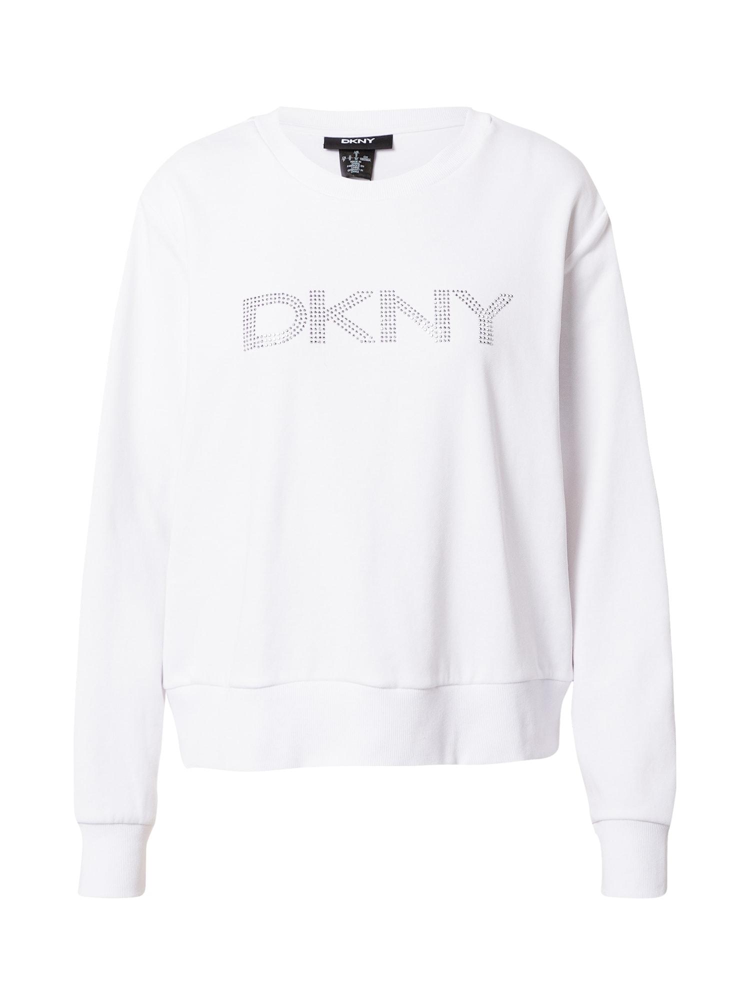 DKNY Megztinis be užsegimo sidabrinė / balta