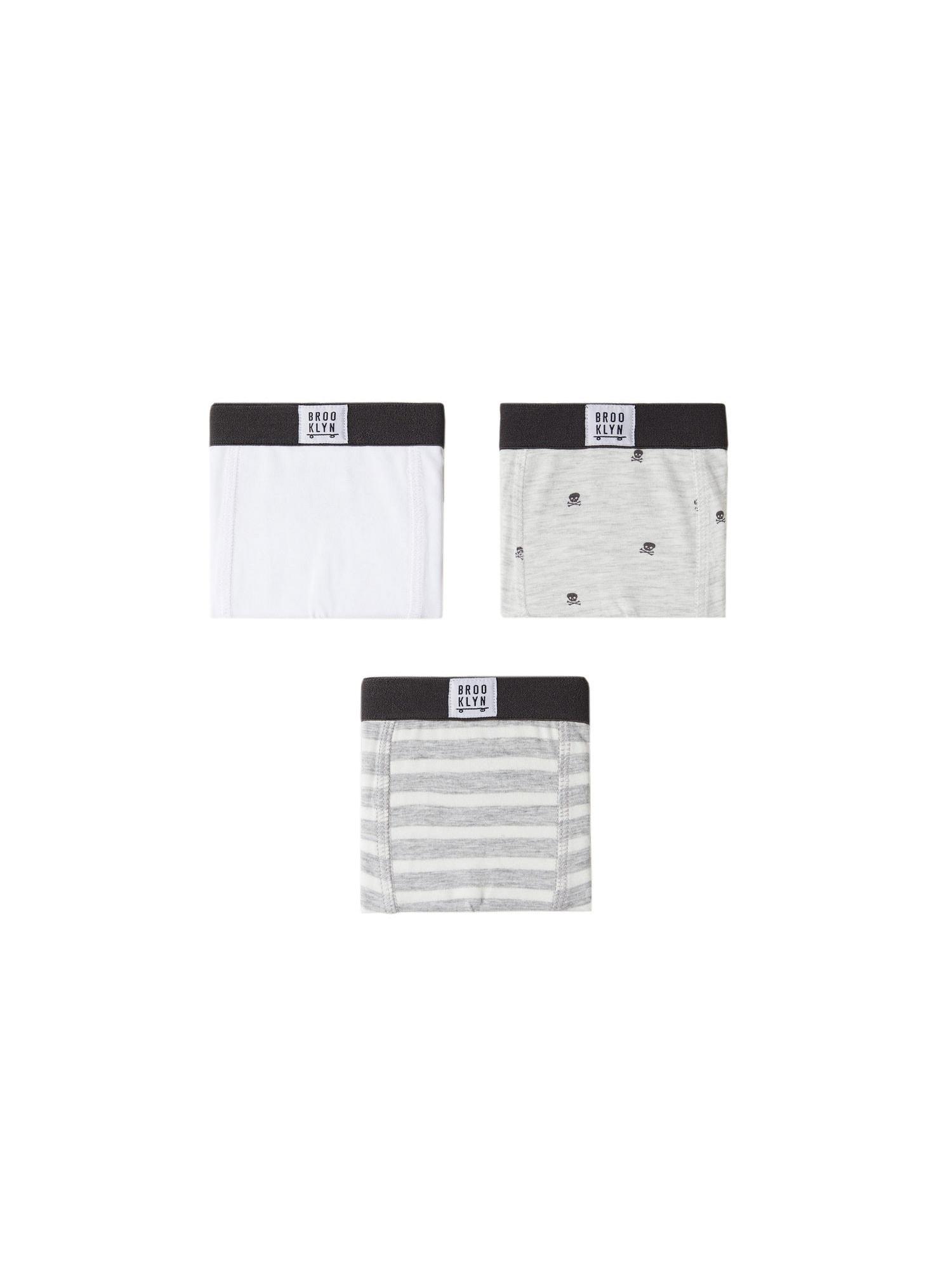 MANGO KIDS Spodní prádlo  tmavě šedá / bílá / světle šedá
