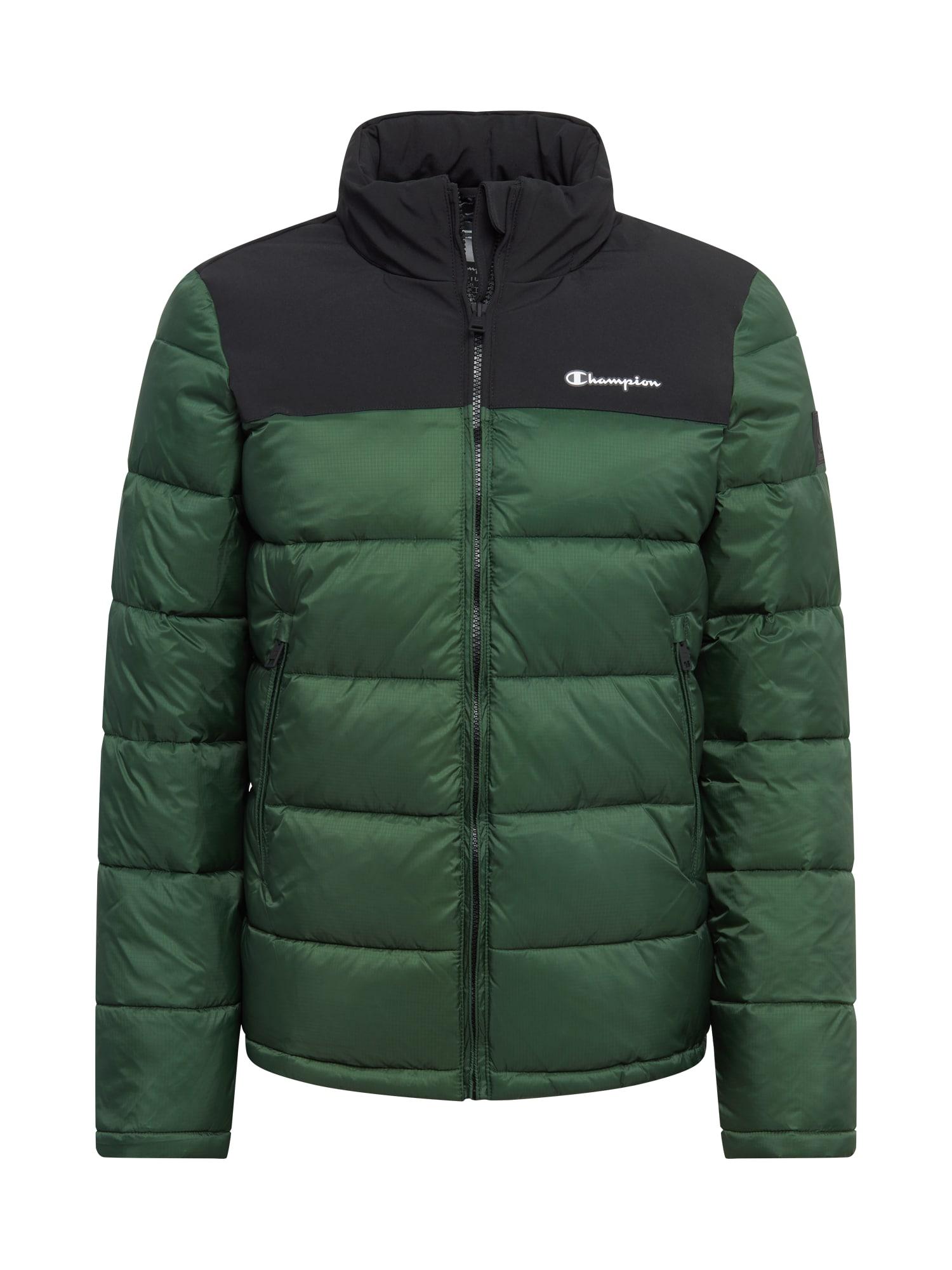 Champion Authentic Athletic Apparel Přechodná bunda  smaragdová / černá