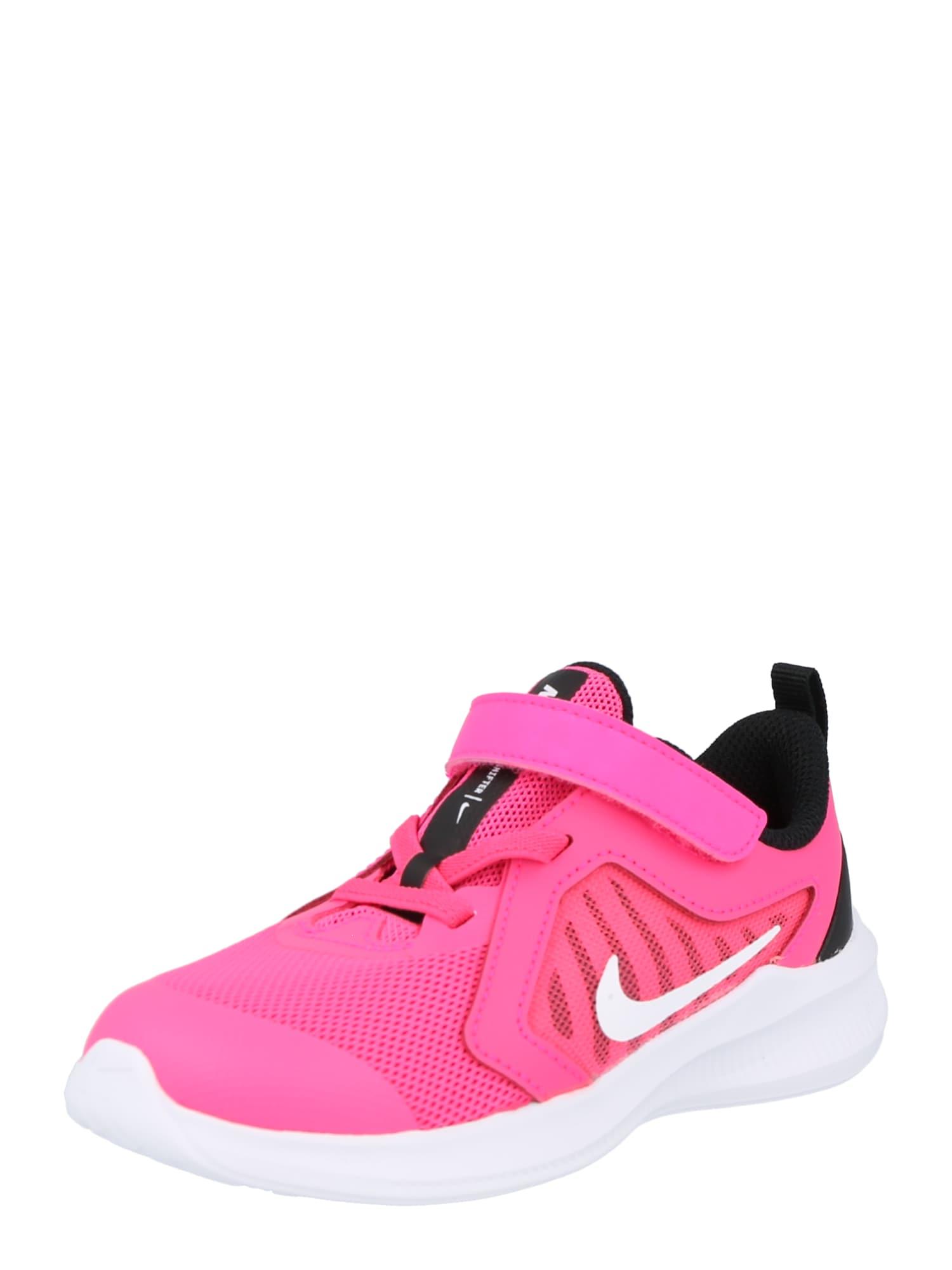 NIKE Sportiniai batai 'Downshifter 10' rožinė / balta / juoda