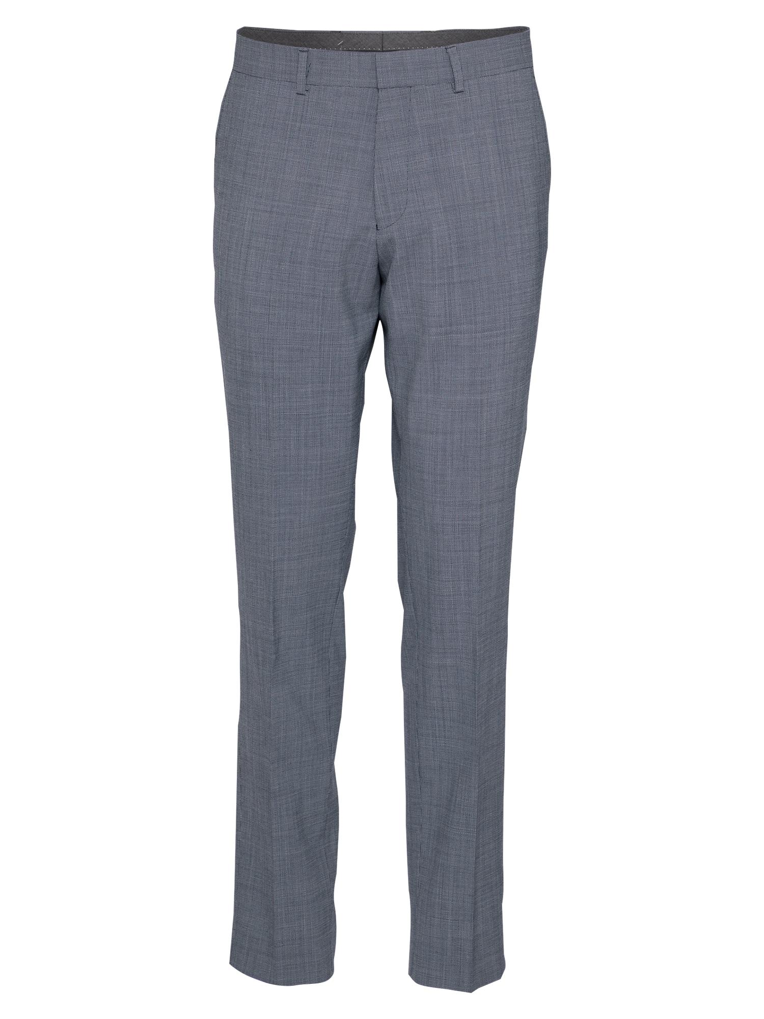 s.Oliver BLACK LABEL Kelnės su kantu tamsiai mėlyna / pilka