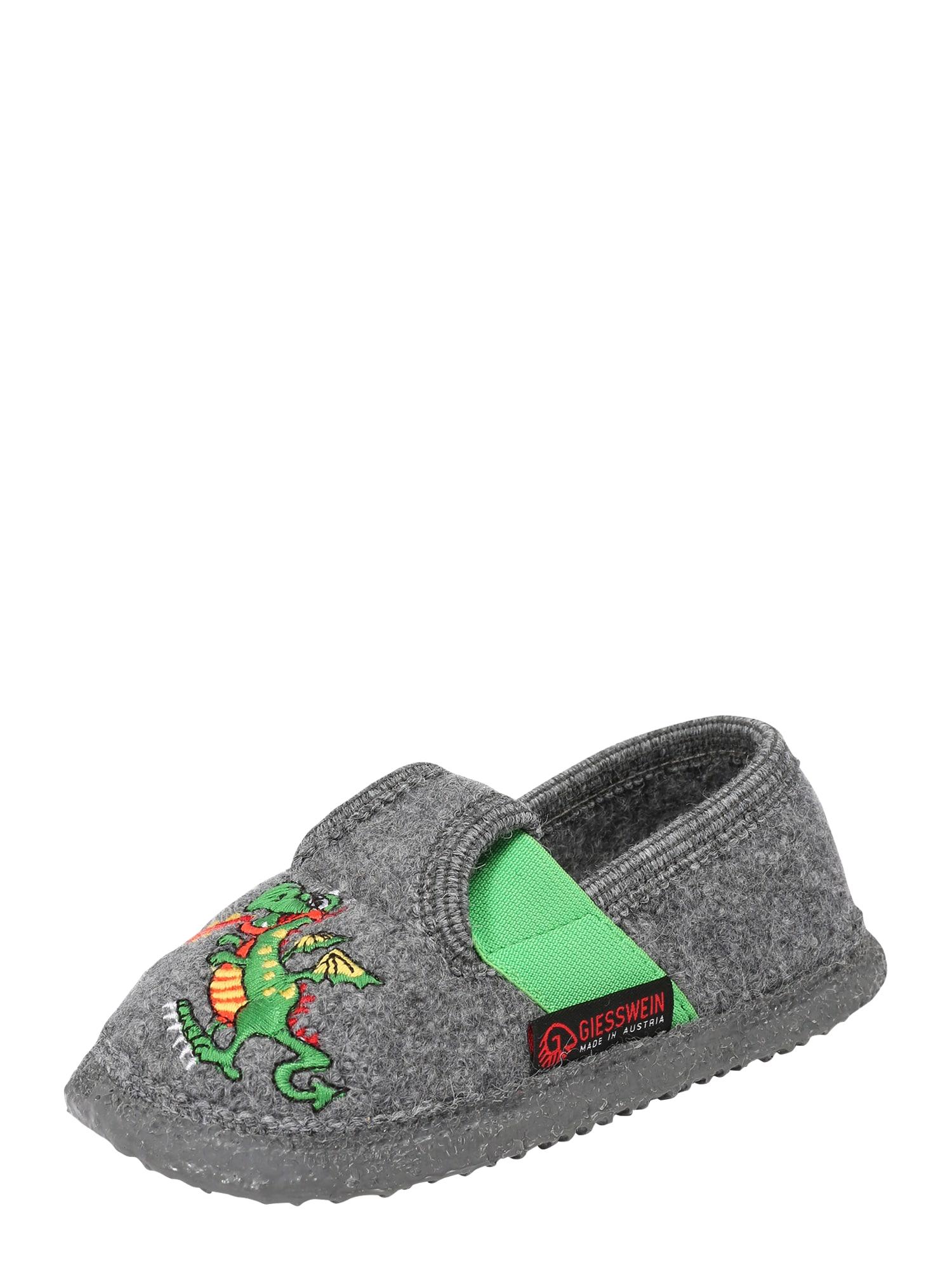 GIESSWEIN Pantofle 'THUINE'  limetková / světle červená / tmavě šedá