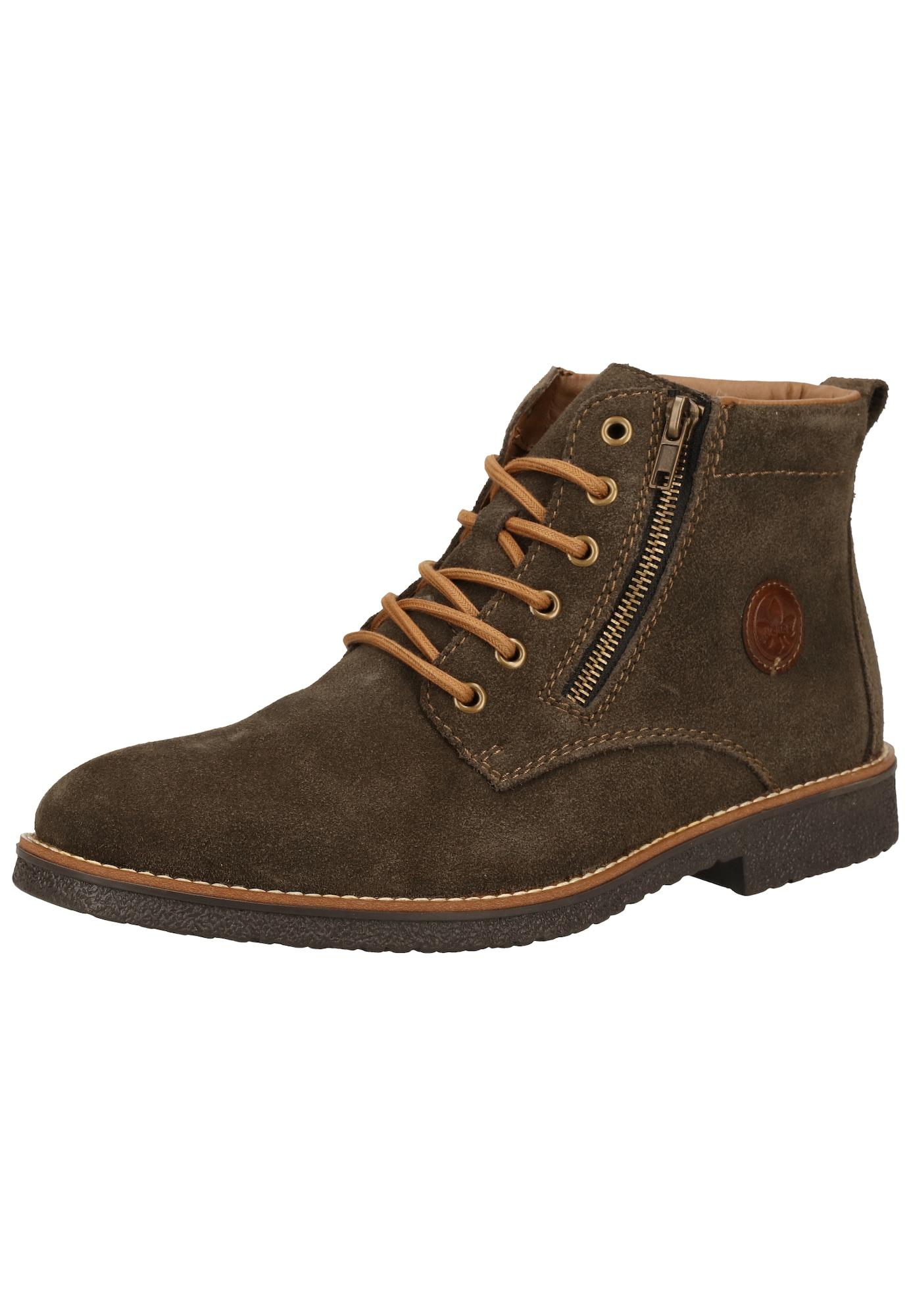 RIEKER Auliniai batai su raišteliais ruda