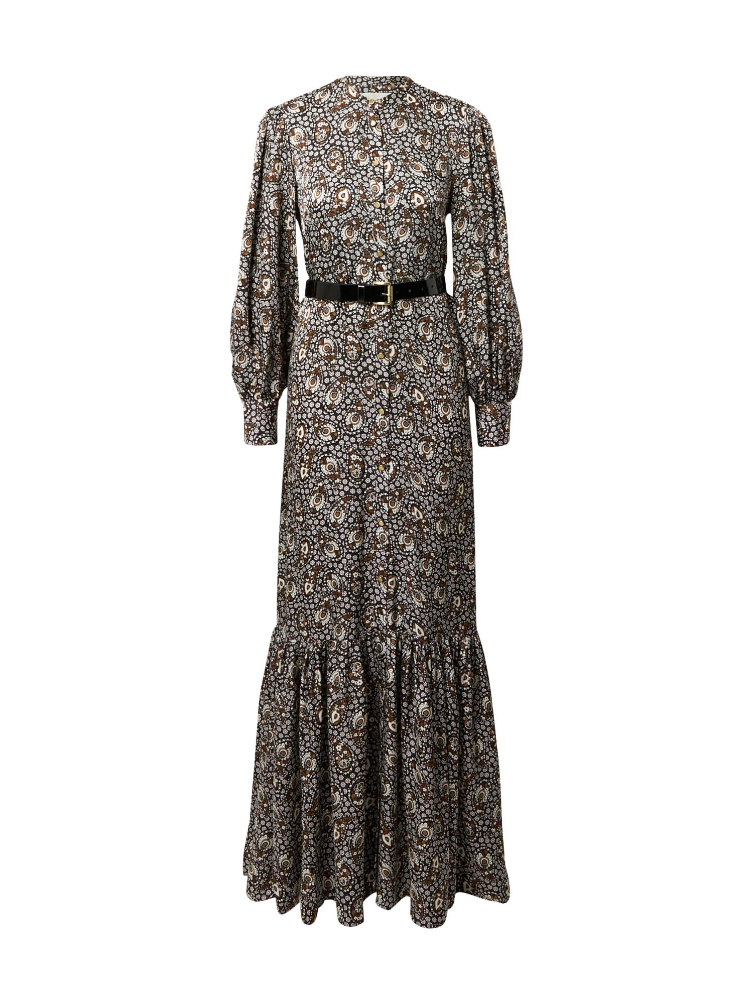 MICHAEL Michael Kors Suknelė karamelės / juoda / balta / smėlio