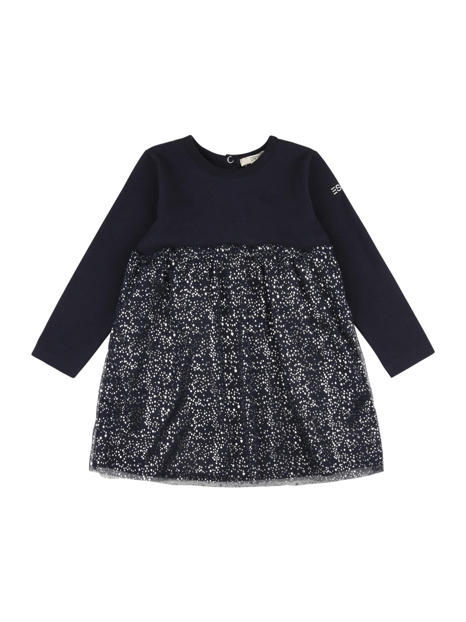 ESPRIT Suknelė tamsiai mėlyna / sidabrinė