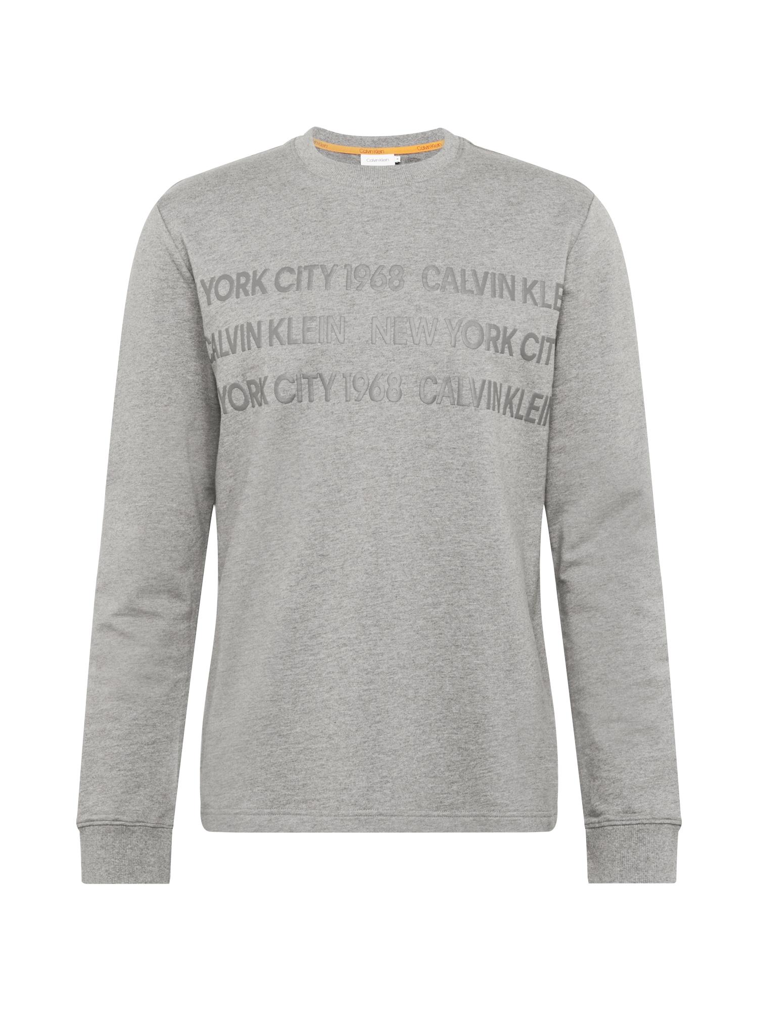 Calvin Klein Mikina  sivá / sivá melírovaná