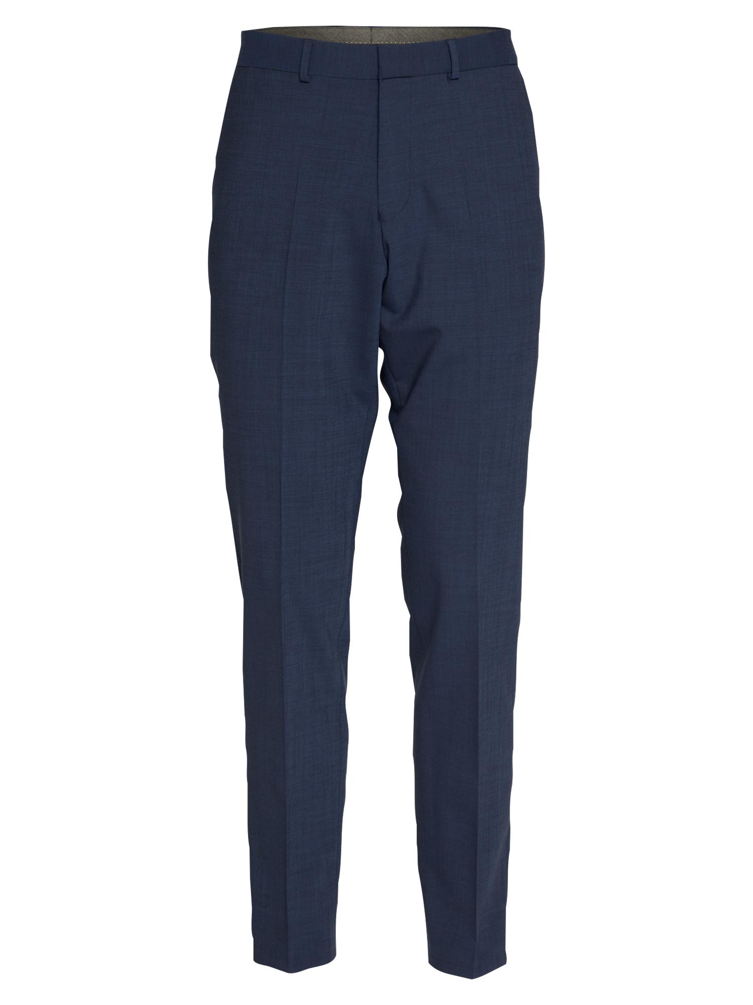 s.Oliver BLACK LABEL Kelnės su kantu tamsiai mėlyna