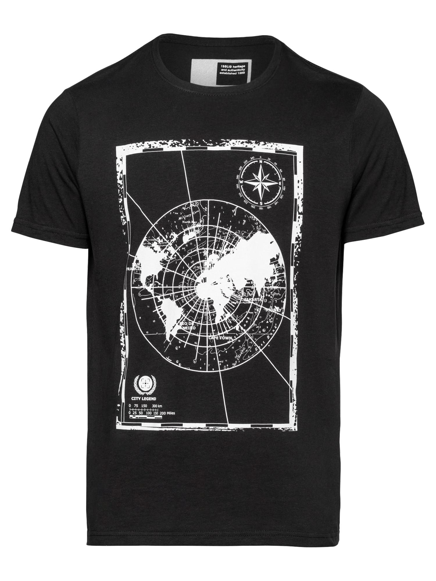 !Solid Marškinėliai juoda / balta