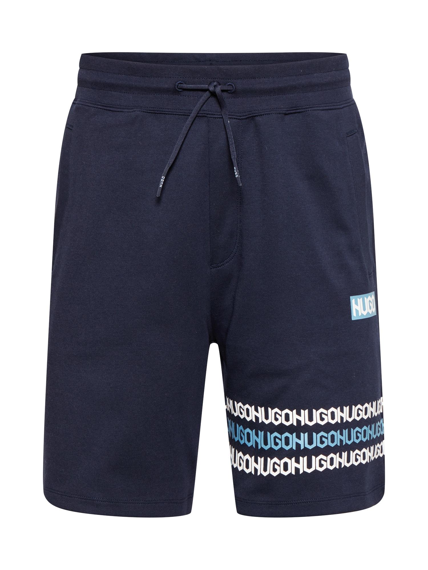 HUGO Kelnės 'Dakumi' tamsiai mėlyna / balta / mėlyna dūmų spalva