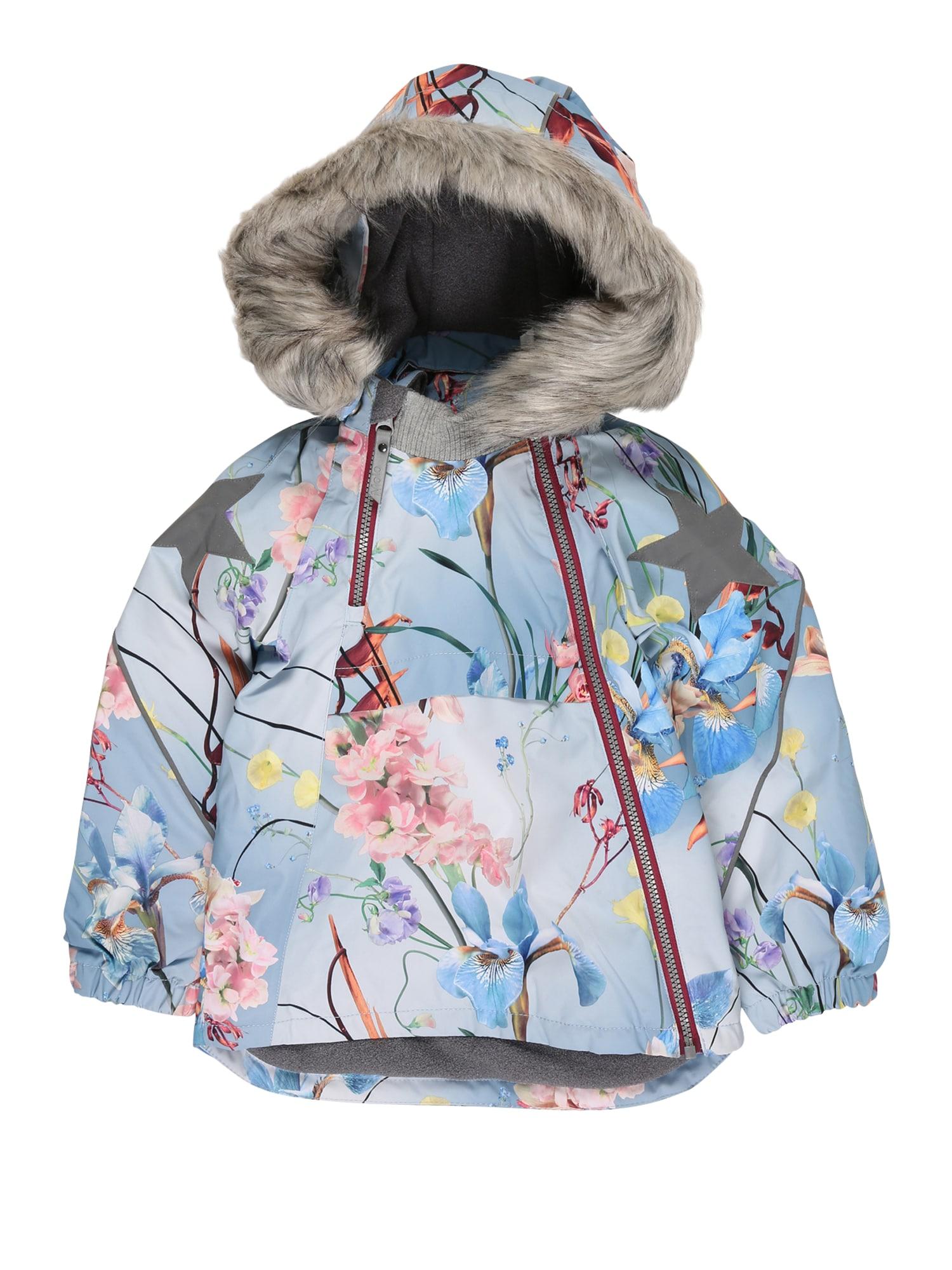 Molo Žieminė striukė šviesiai mėlyna / mišrios spalvos